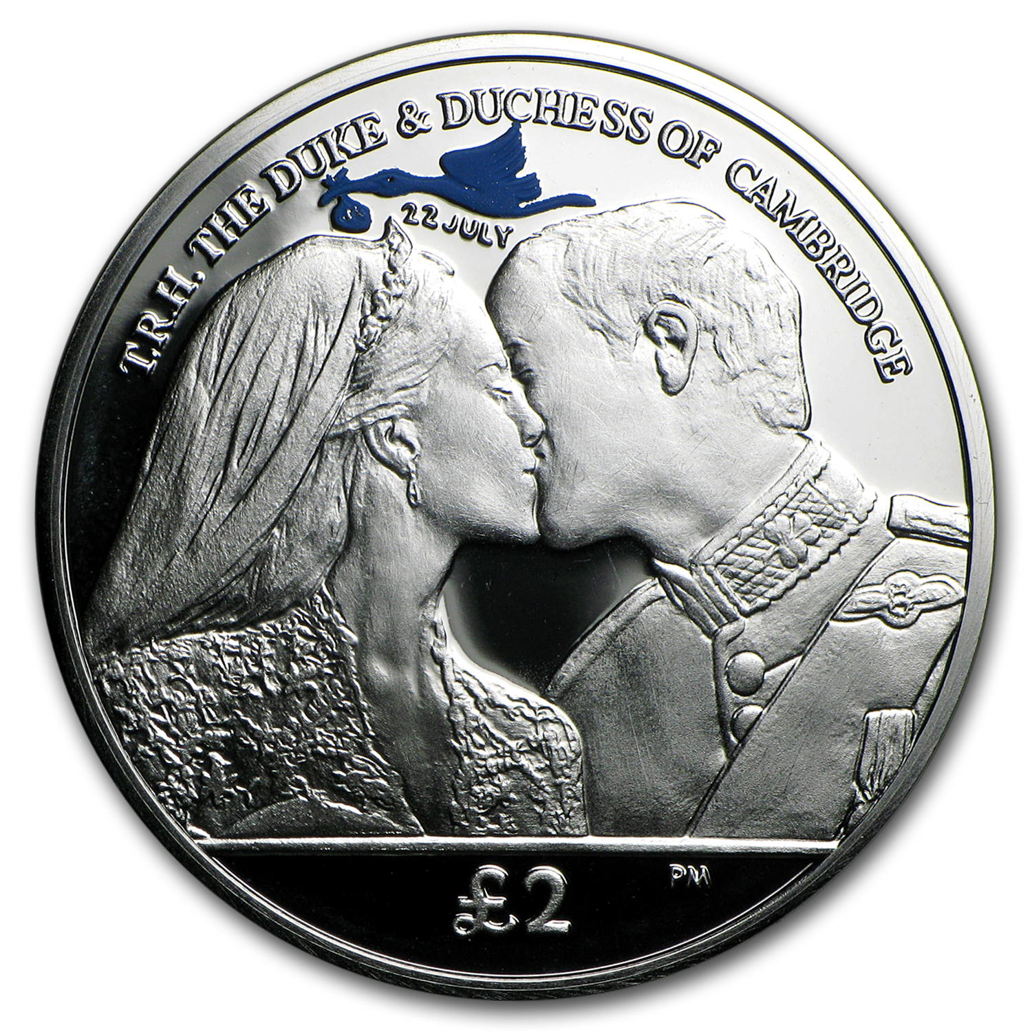 2013 South Georgia Silver £2 Royal Baby