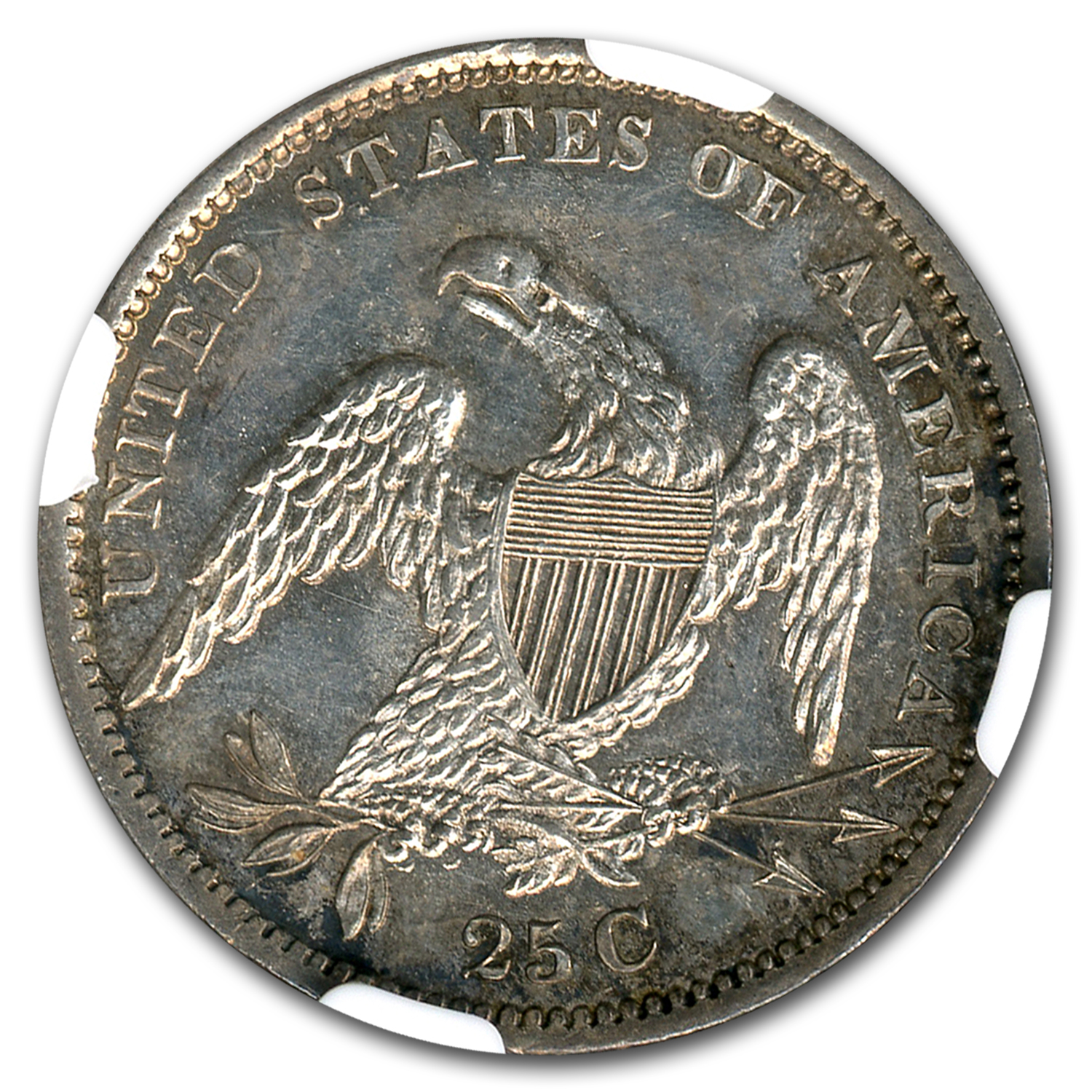 1834 Capped Bust Quarter MS-64 PL NGC