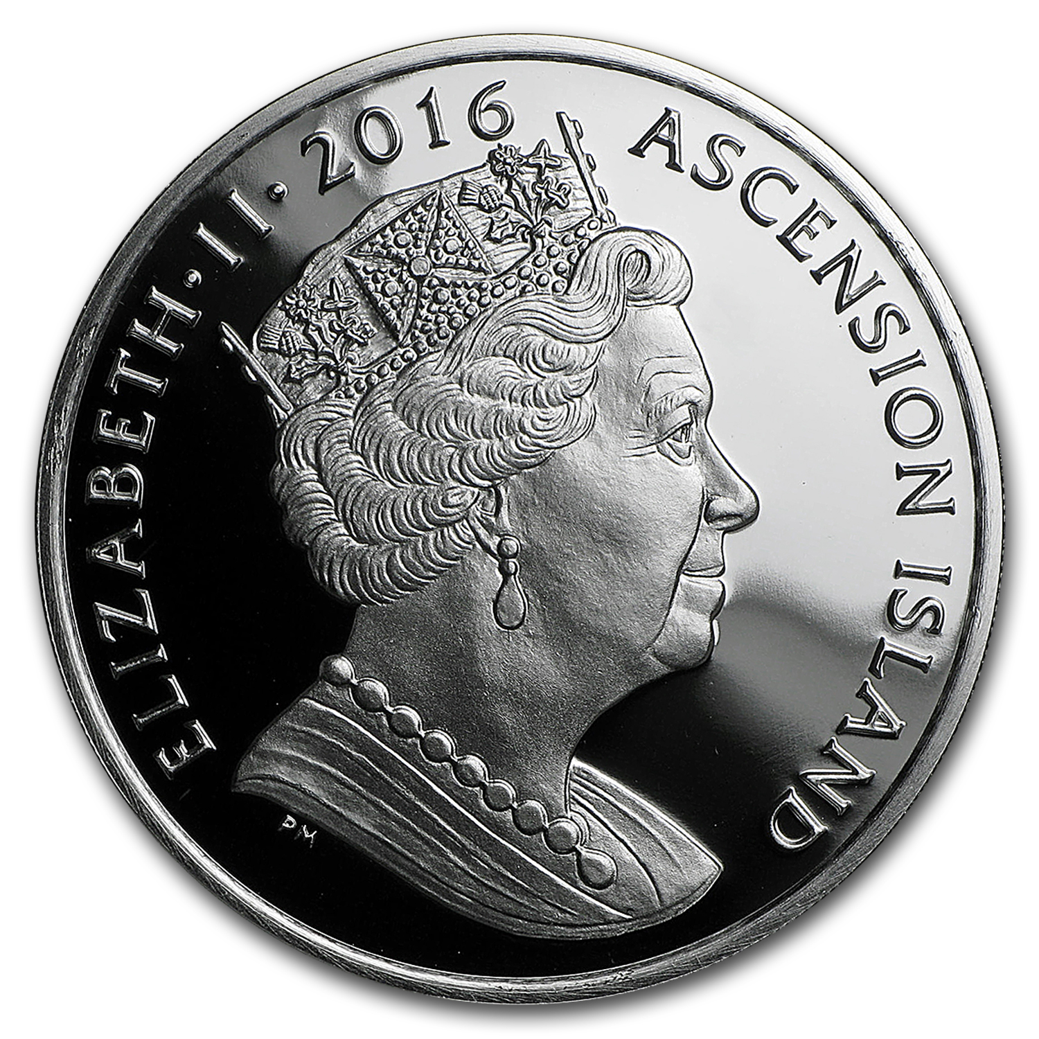 2016 ASC Silver 1 Crown Queen's 90th Birthday w/Diamonds