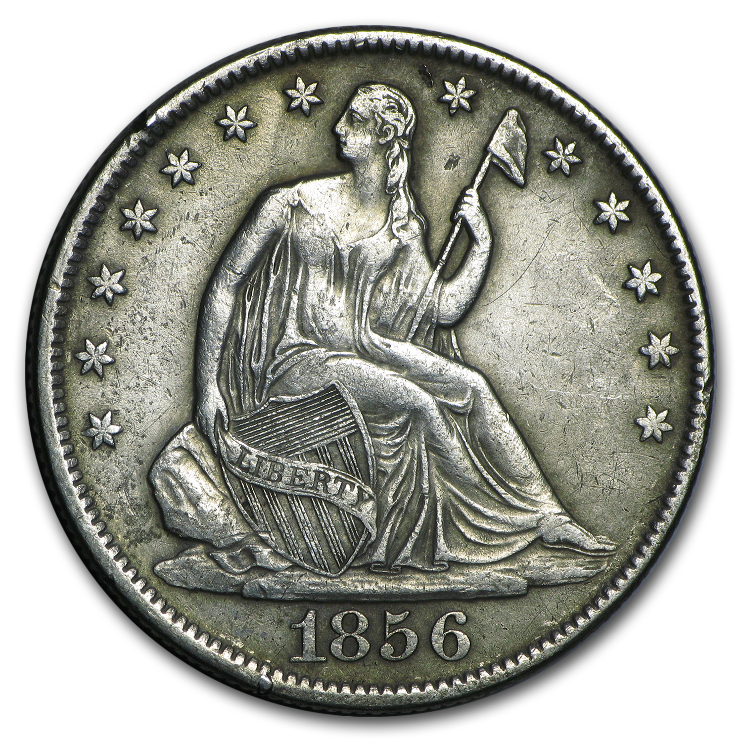 1856-O Liberty Seated Half Dollar XF