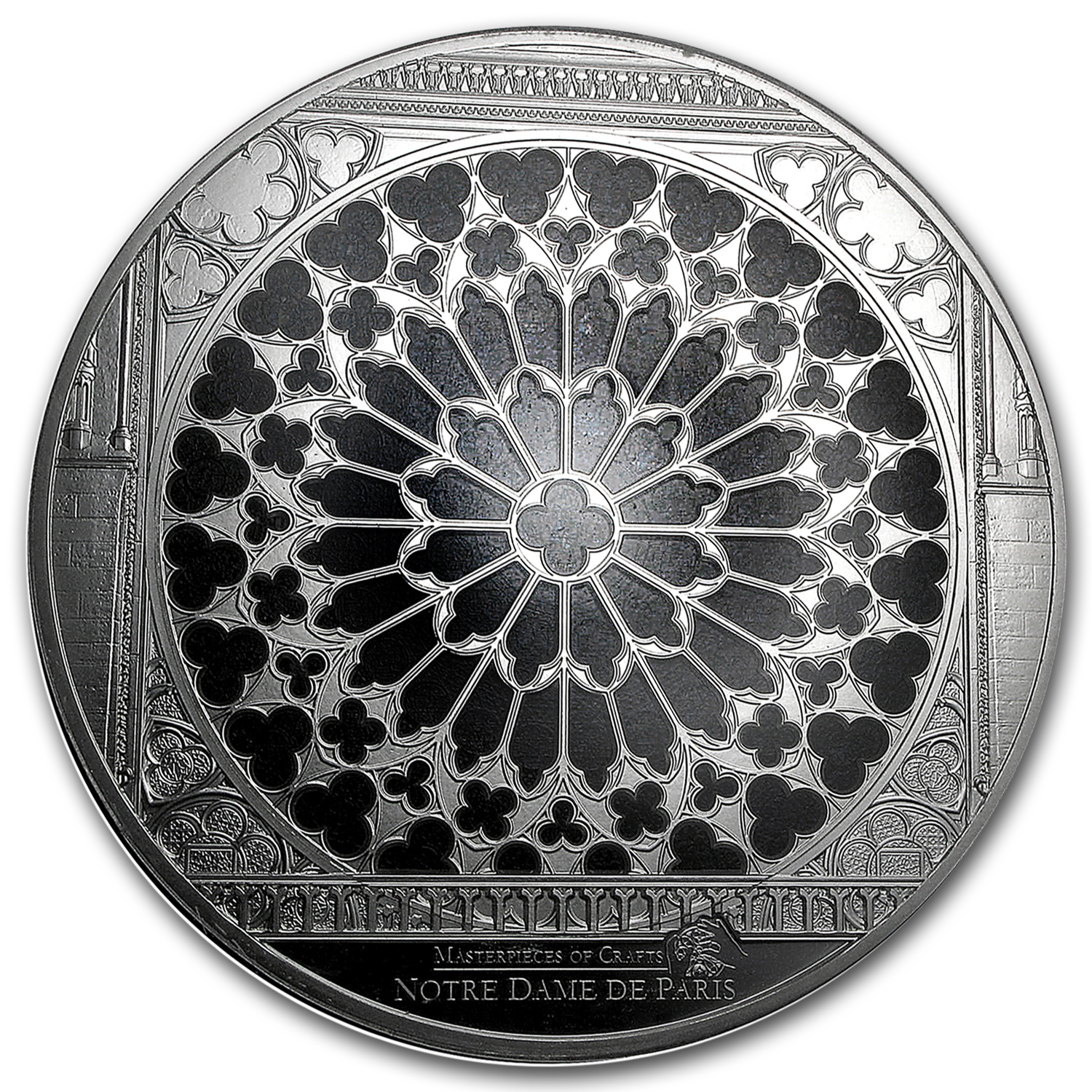 2015 Cook Islands 10 oz Silver Windows of Heaven Giant Notre Dame