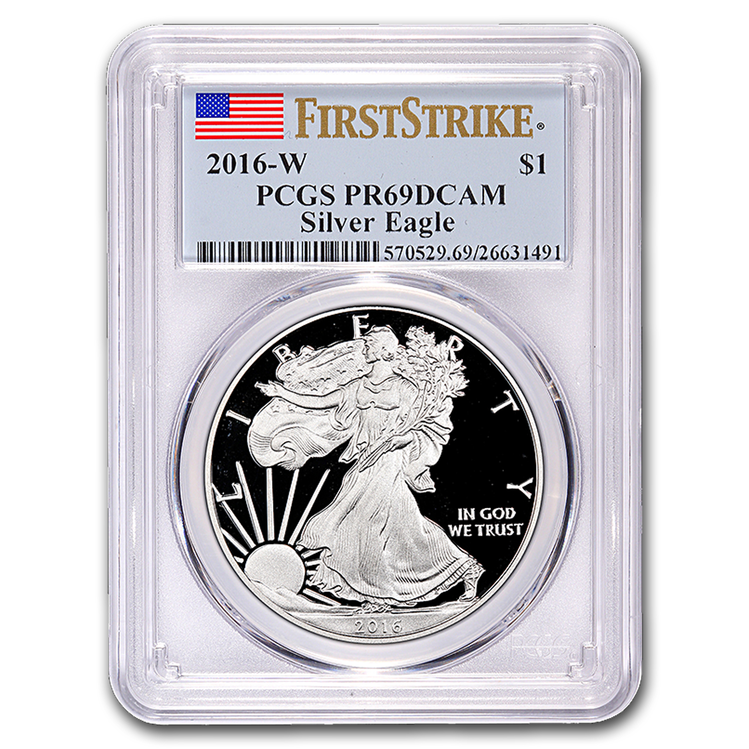 2016-W Proof Silver American Eagle PR-69 PCGS (First Strike)