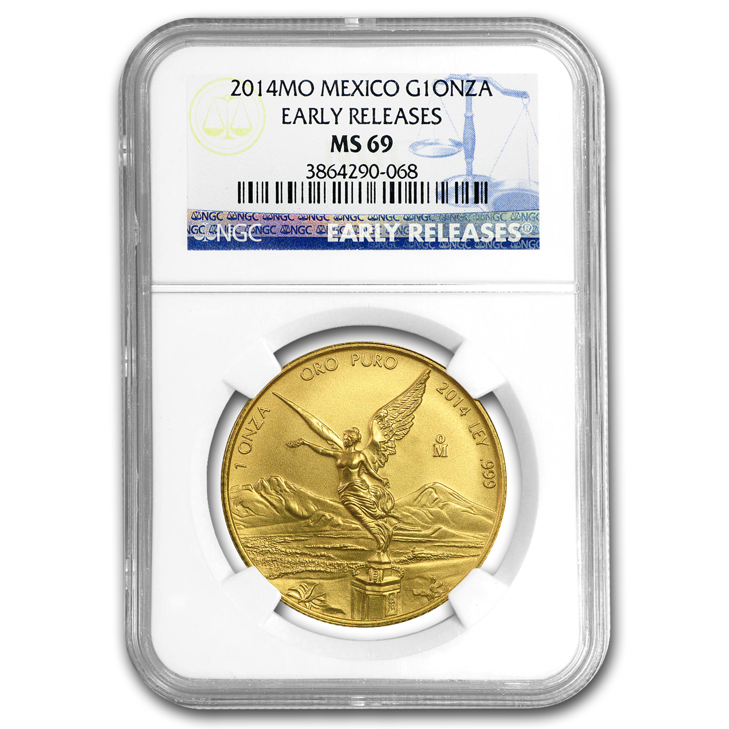 2014 Mexico 1 oz Gold Libertad MS-69 NGC (Early Release)