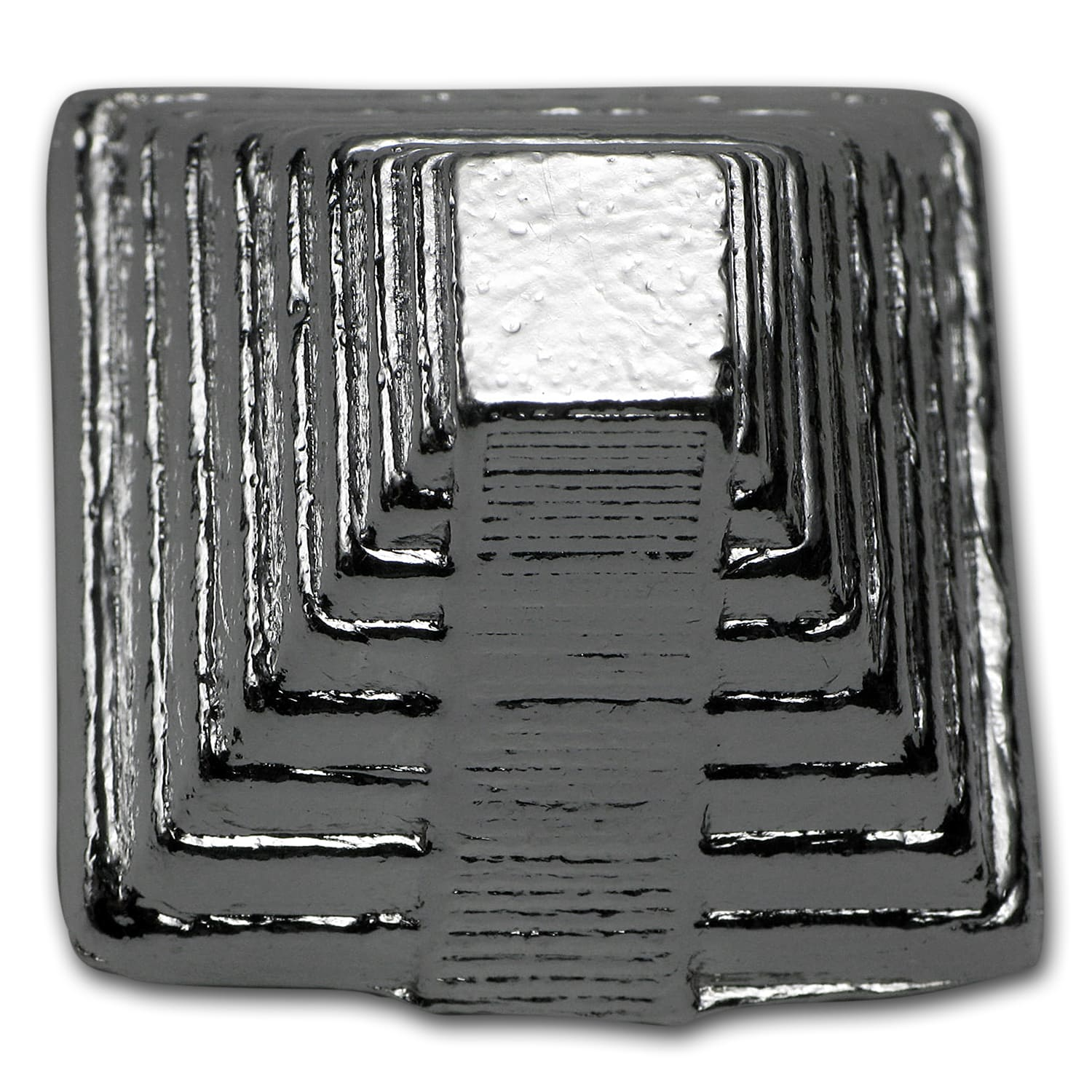 5 oz Silver - Yeager Poured Silver (3D Aztec Pyramid)