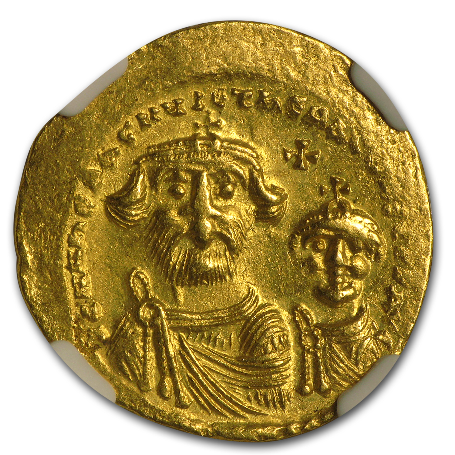 Byzantine Gold Solidus Emperor Heraclius (613-641 AD) CH AU NGC