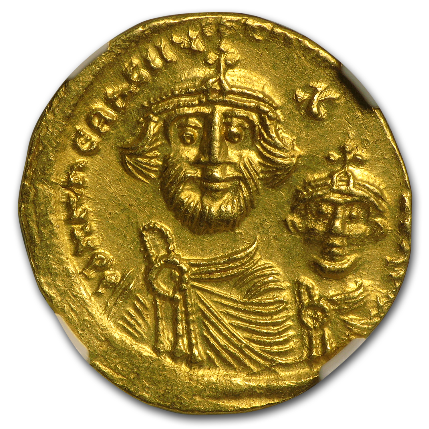 Byzantine Gold Solidus Emperor Heraclius (613-641 AD) MS NGC