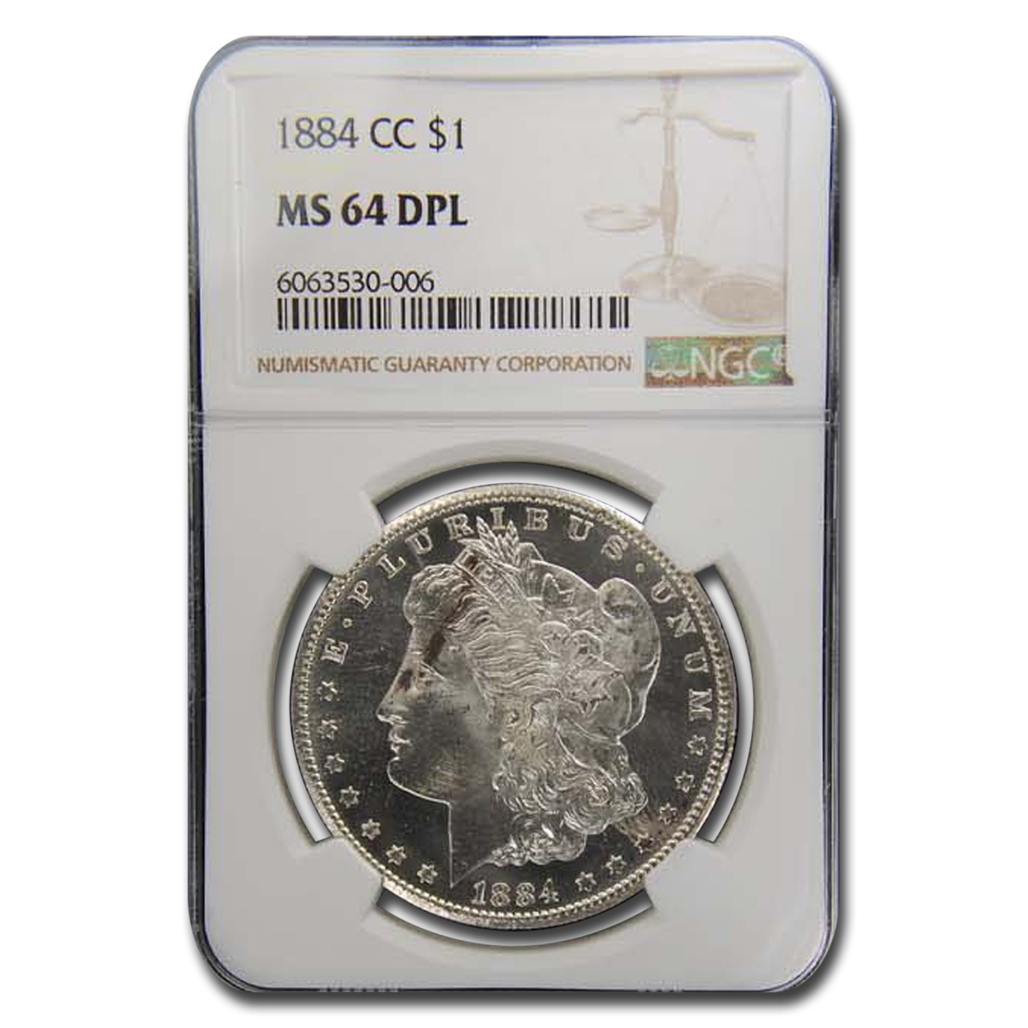 1884-CC Morgan Dollar MS-64 DPL NGC