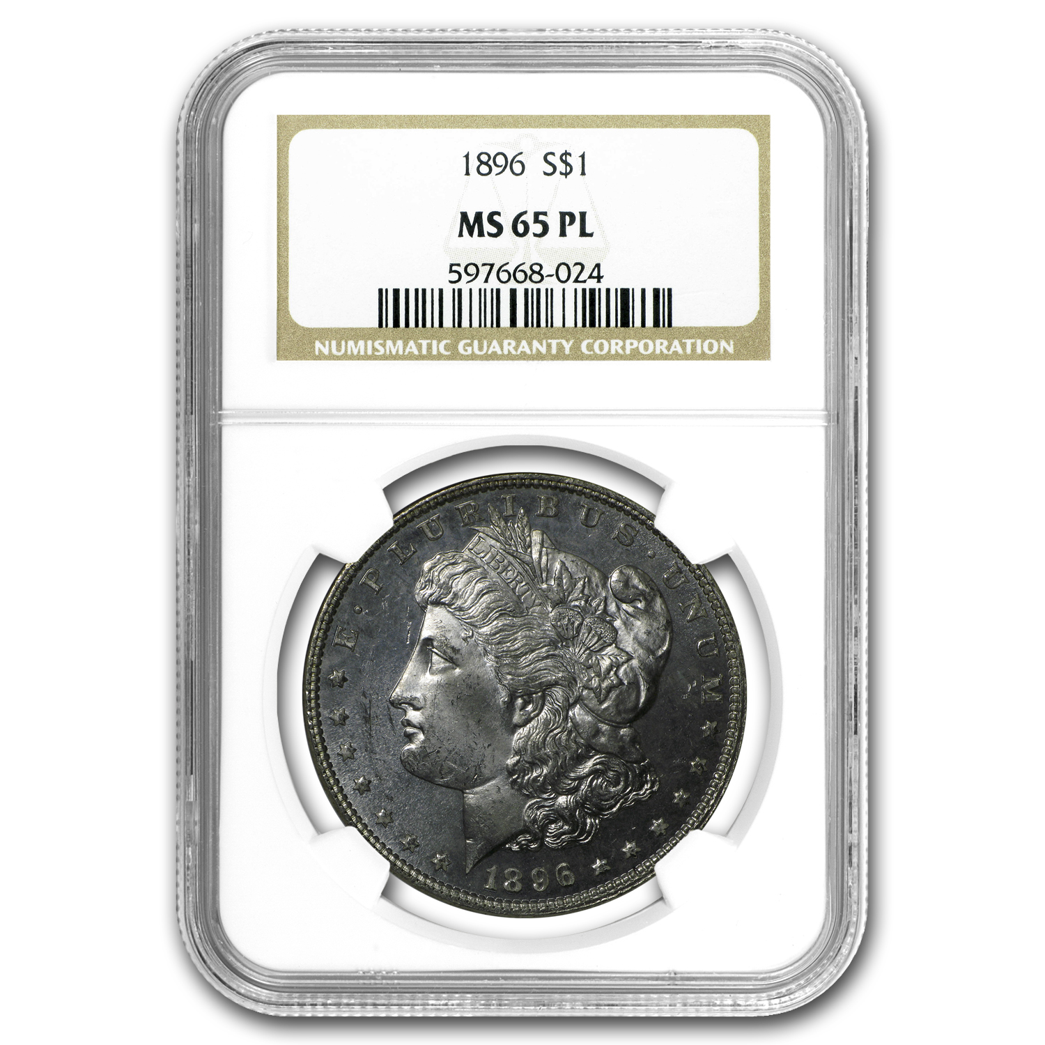 1896 Morgan Dollar MS-65 PL NGC