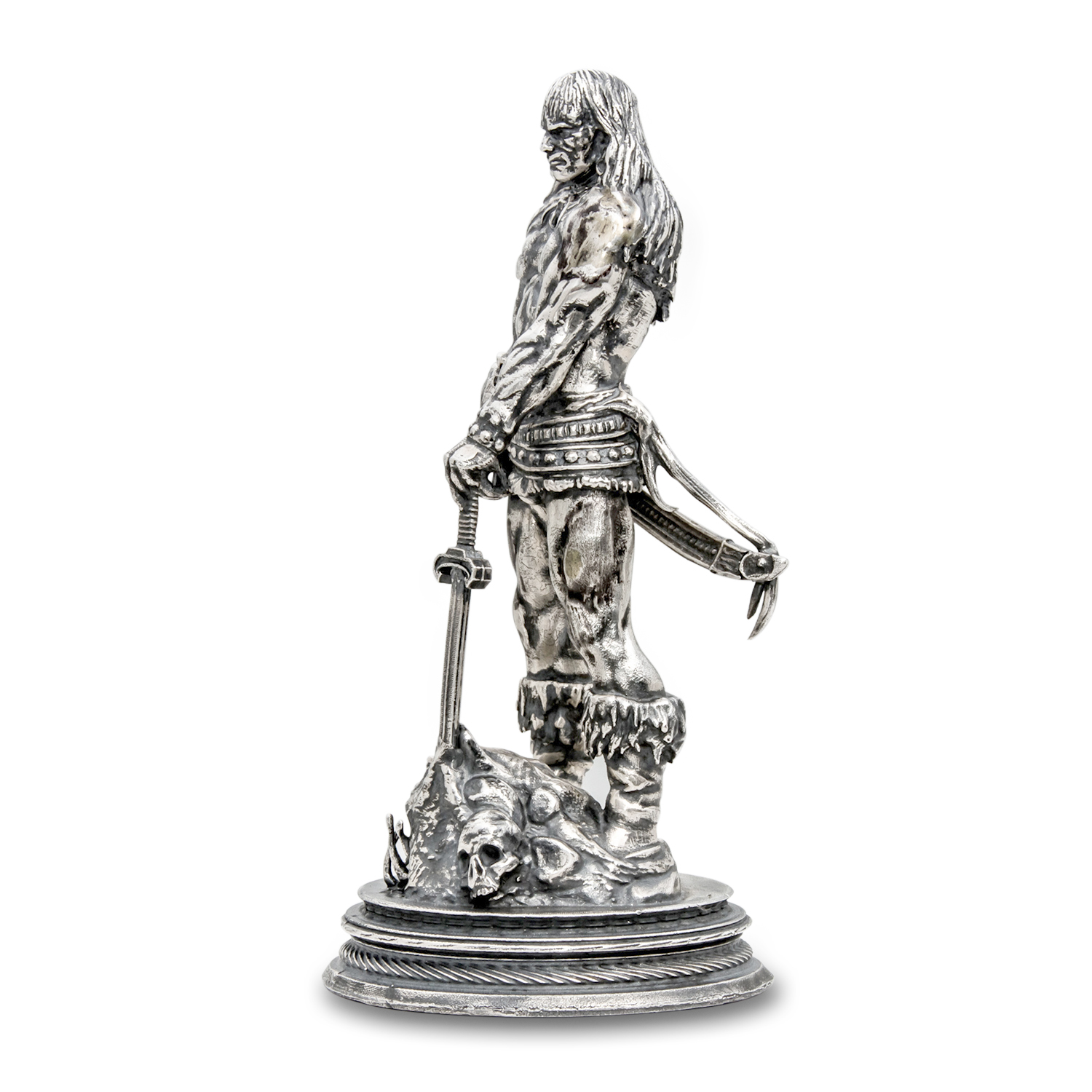 6 oz Silver Antique Statue - Frank Frazetta (The Barbarian)