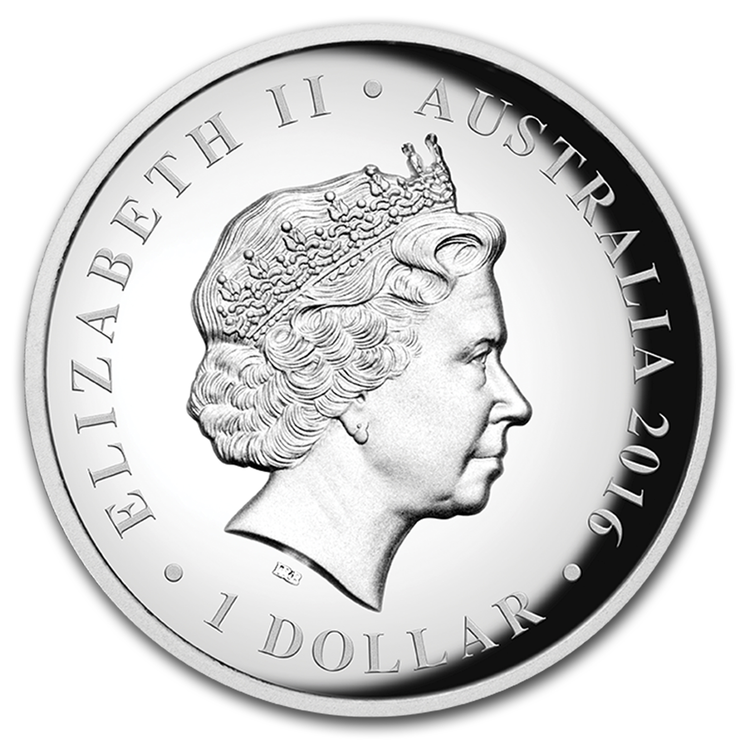 2016 Australia 1 oz Silver High Relief Queen's 90th Birthday