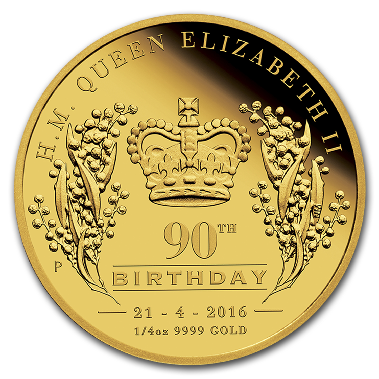 2016 Australia 1/4 oz Gold Queen's 90th Birthday Proof (HR)
