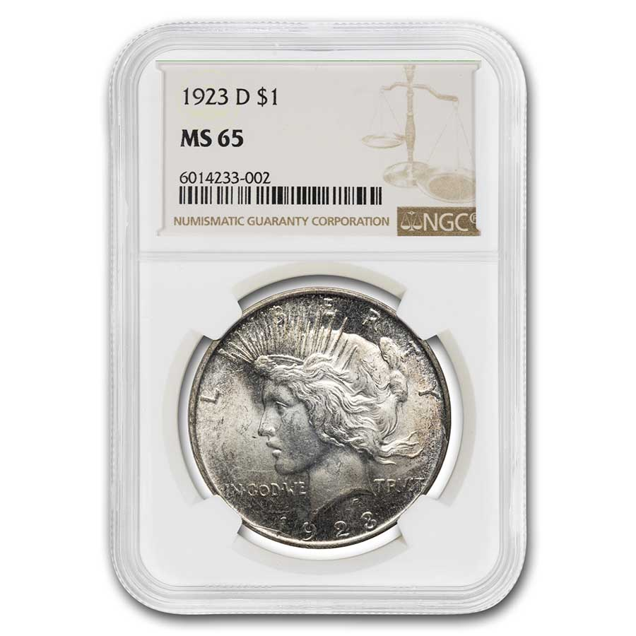 1923-D Peace Dollar MS-65 NGC