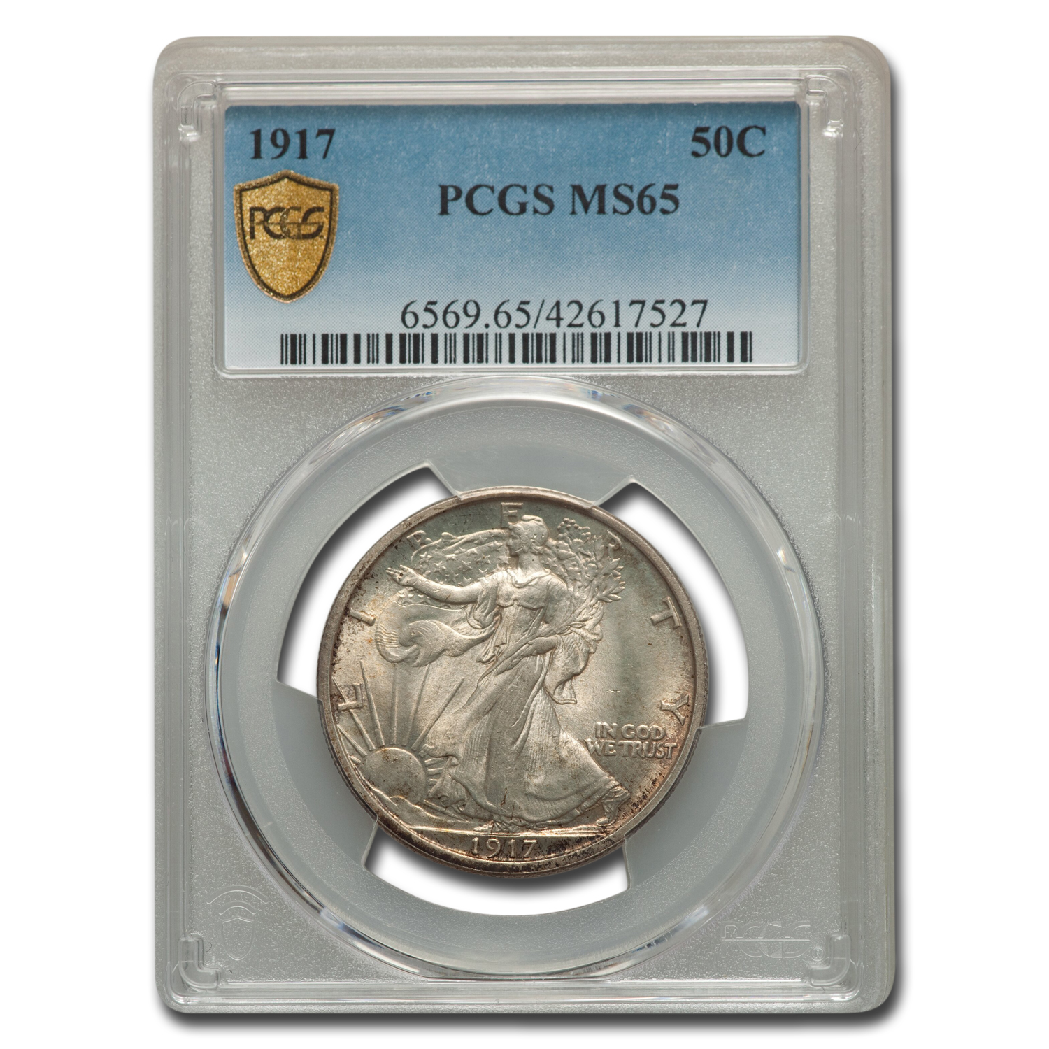 1917 Walking Liberty Half Dollar MS-65 PCGS