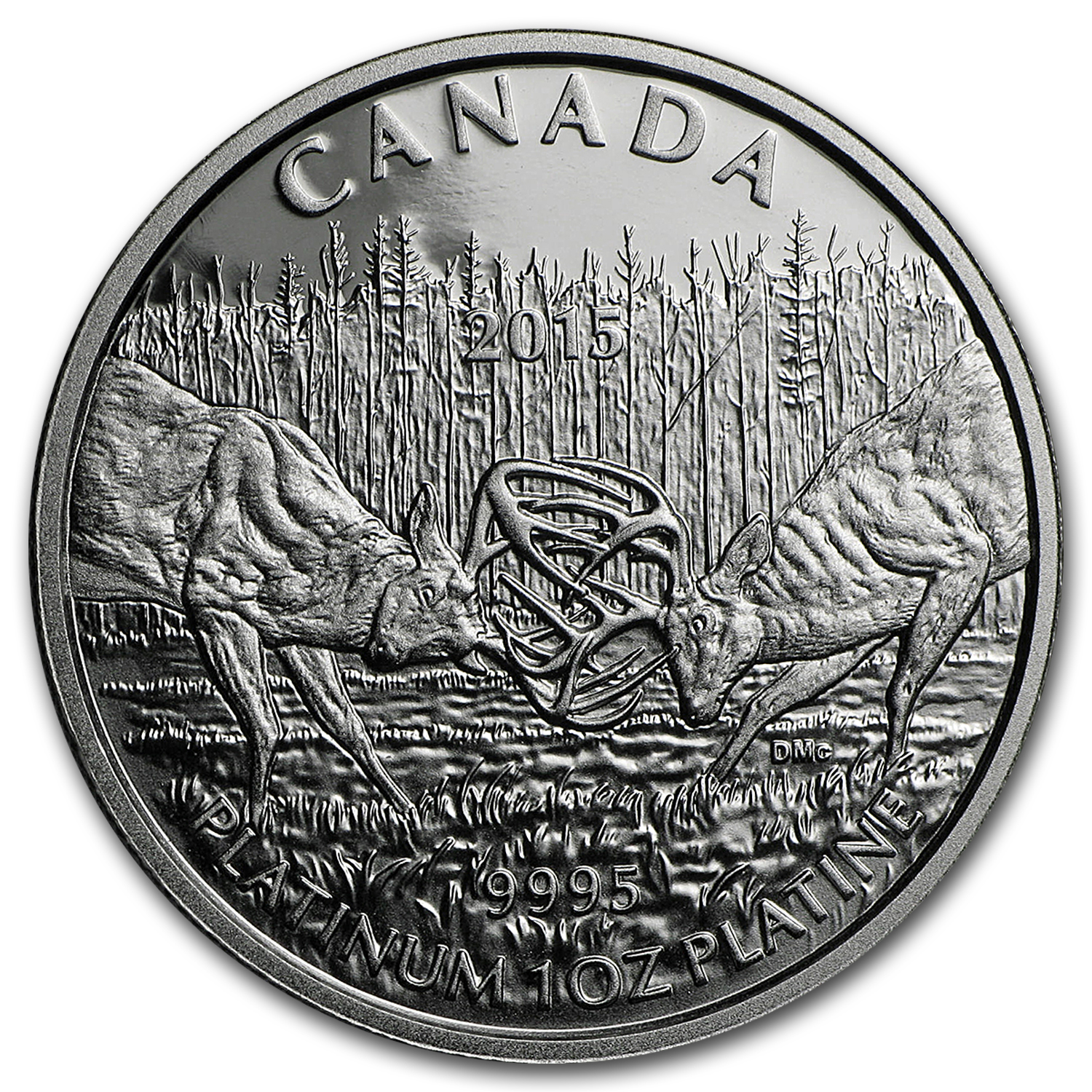 2015 Canada 1 oz Proof Platinum $300 White-Tailed Deer