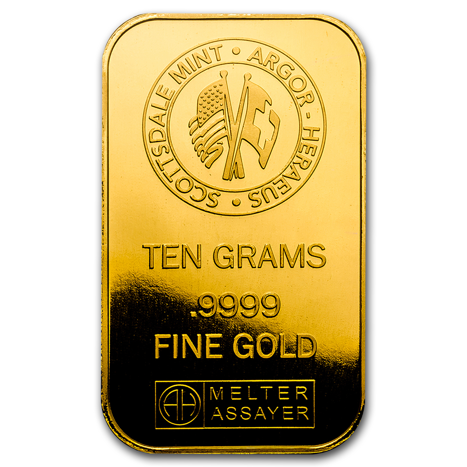 10 gram Gold Bar - Scottsdale Mint (In Certi-Lock® Assay)