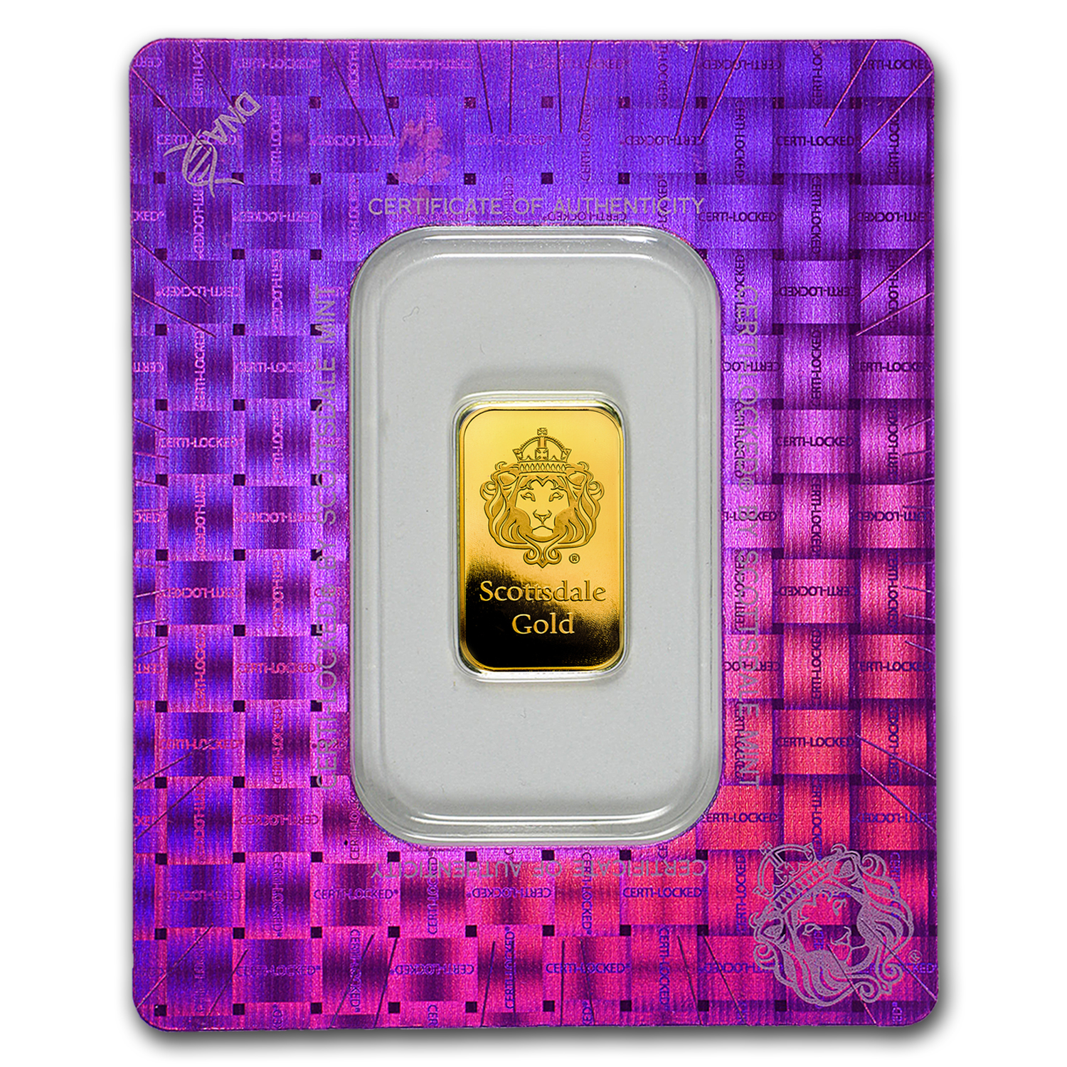 5 gram Gold Bar - Scottsdale Mint (In Certi-Lock® Assay)