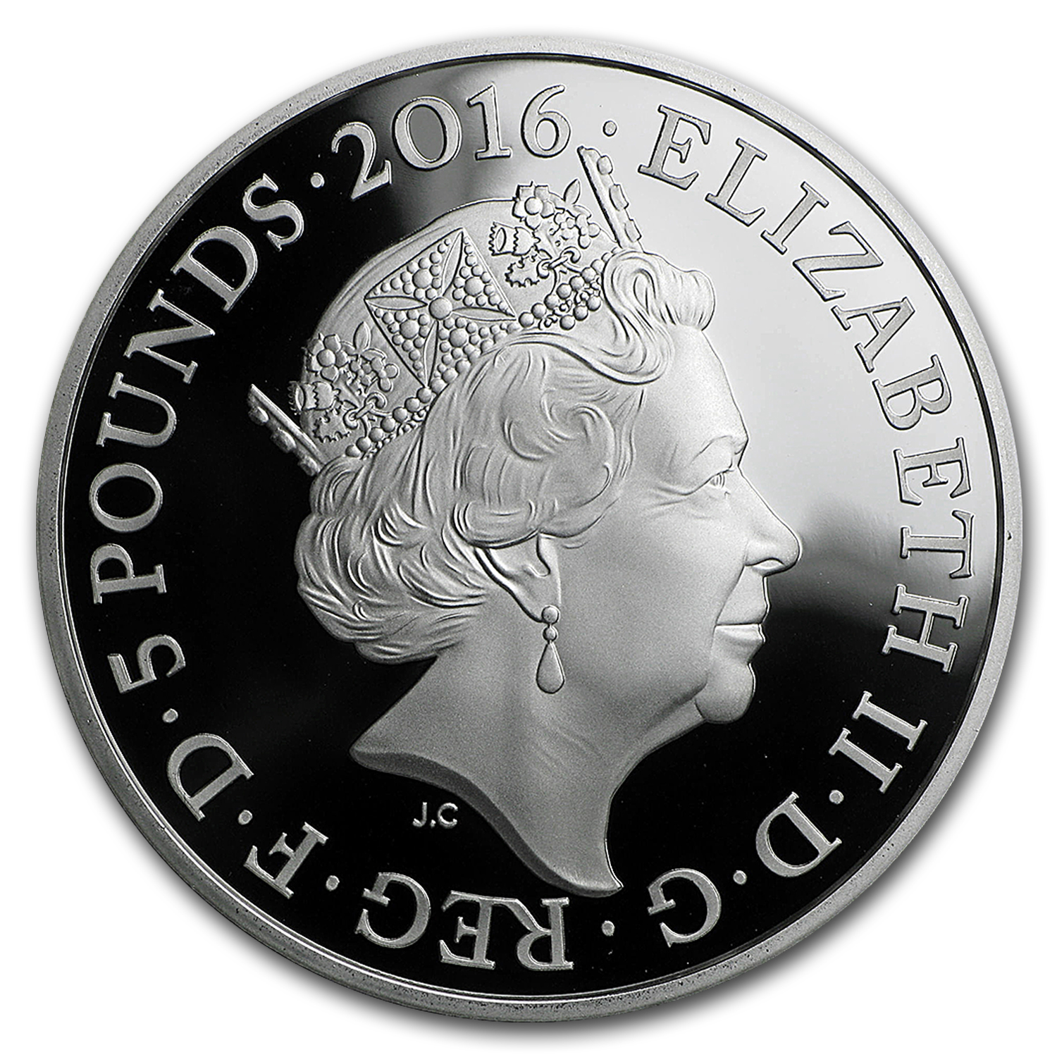 2016 Great Britain £5 Proof Silver Queen's 90th Birthday