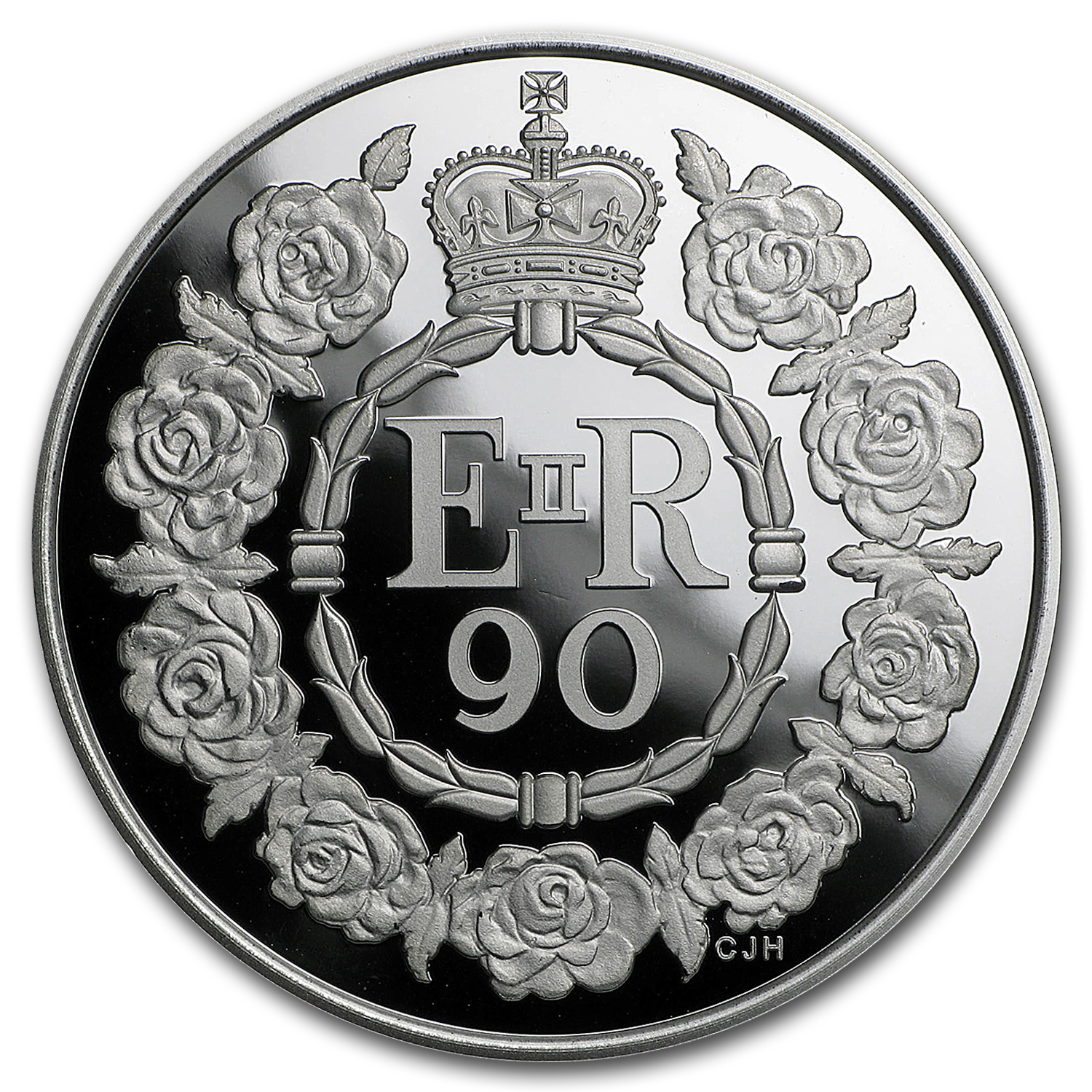 2016 Great Britain £5 Prf Silver Queen's 90th Birthday Piedfort