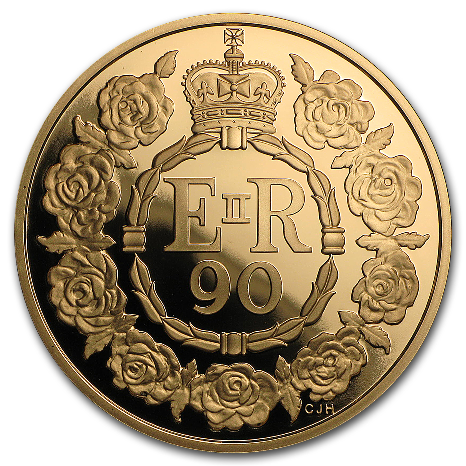 2016 Great Britain £5 Prf Gold Queen's 90th Birthday