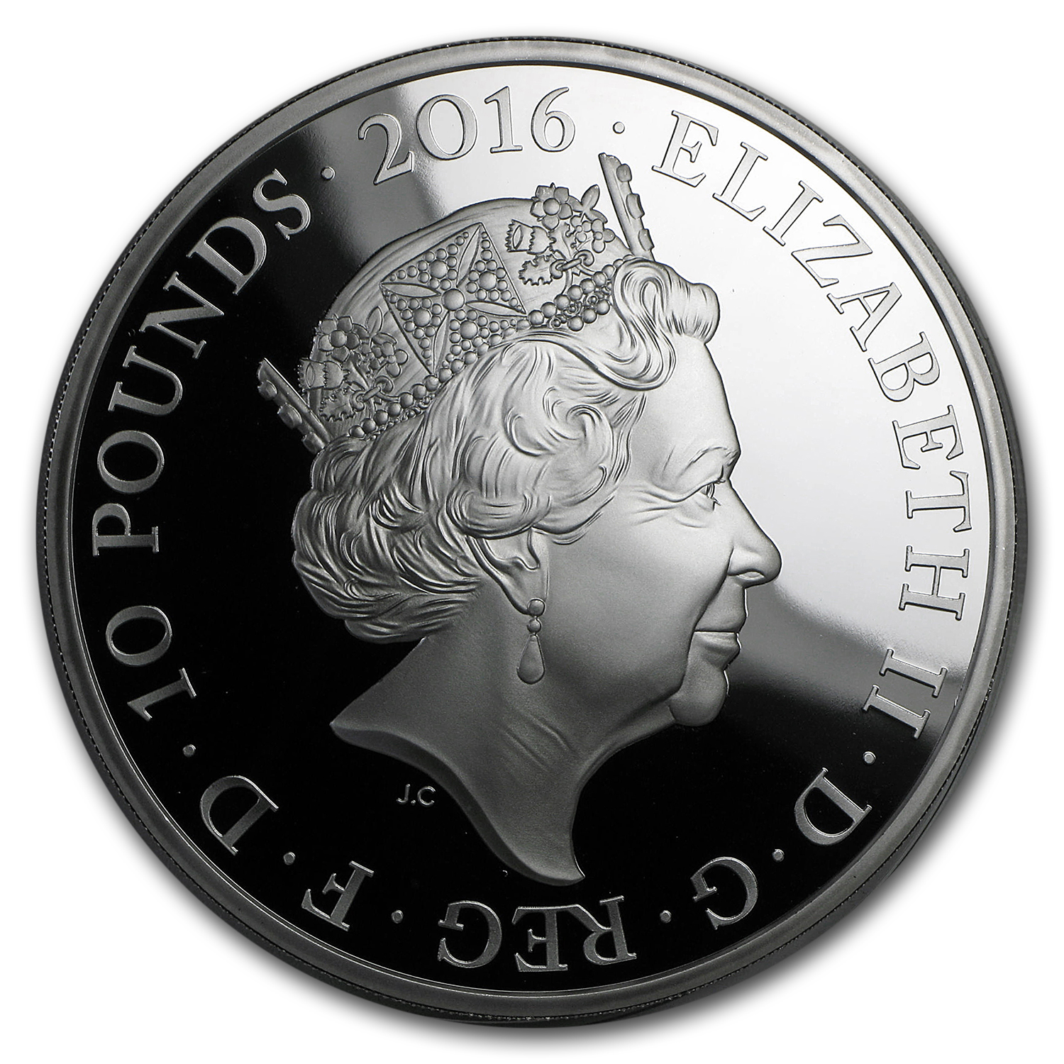 2016 Great Britain 5 oz Prf Silver Queen's 90th Birthday