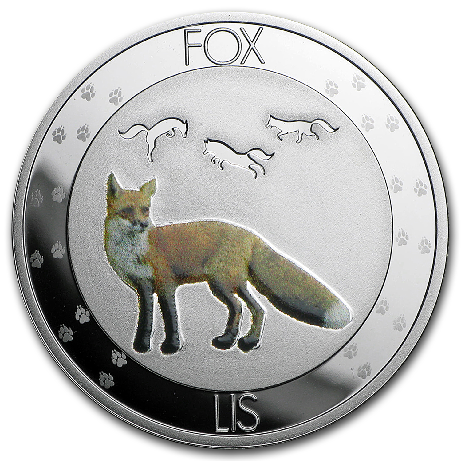 2016 Niue Silver Symbols of Nature Fox Proof
