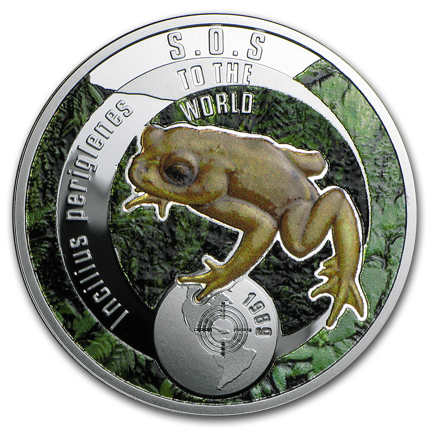 2016 Niue Silver SOS For The World They are Gone! (Golden Toad)