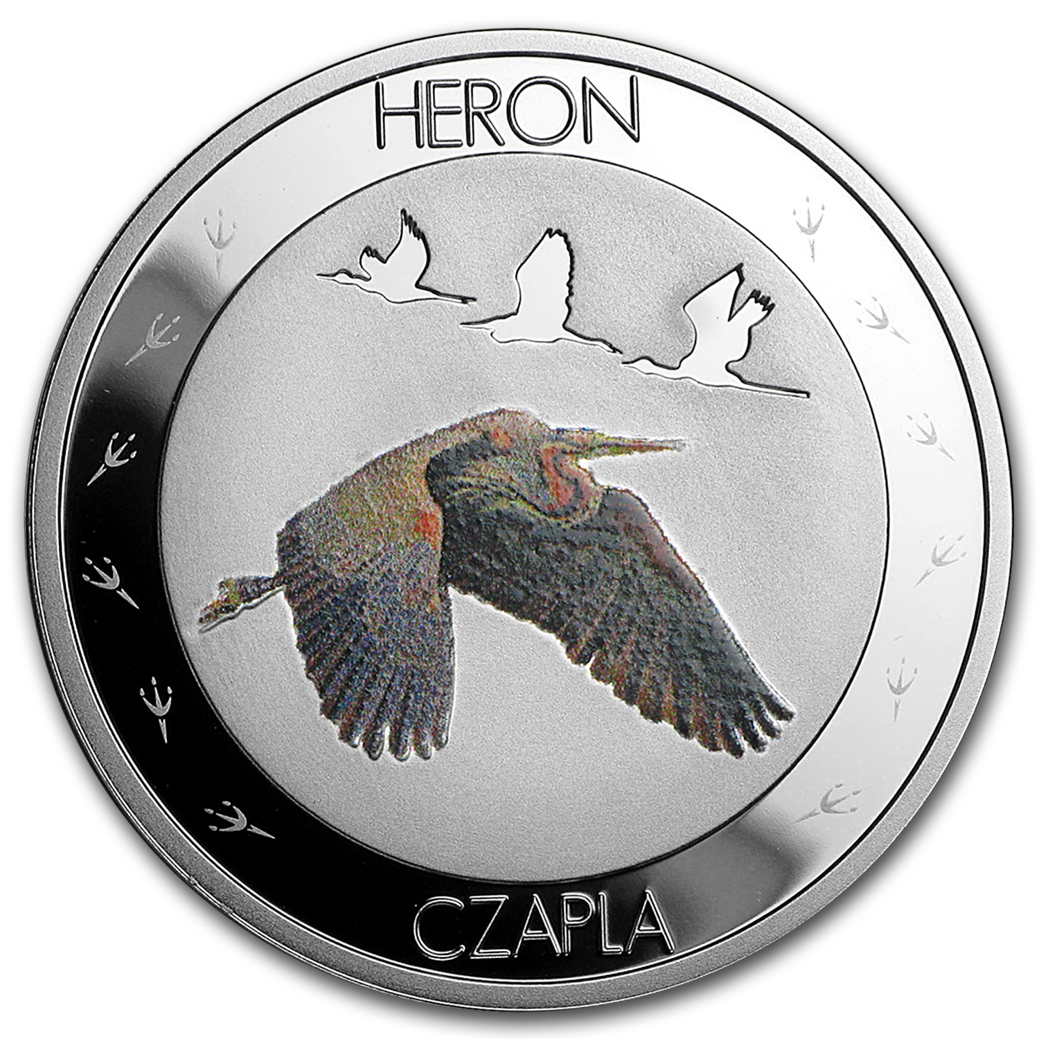 2015 Niue Silver Symbols of Nature Heron Proof
