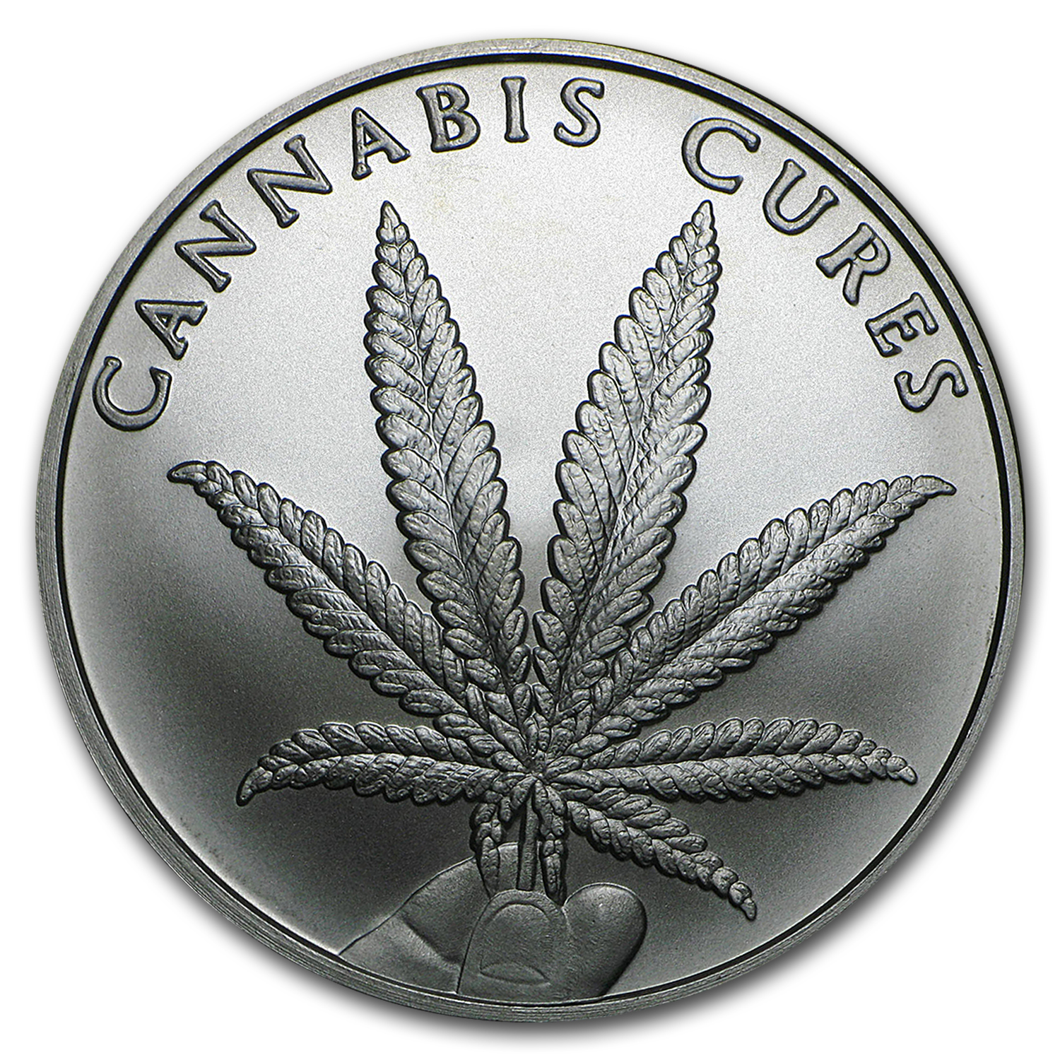 2016 1 oz Silver Shield Round - Cannabis Cures