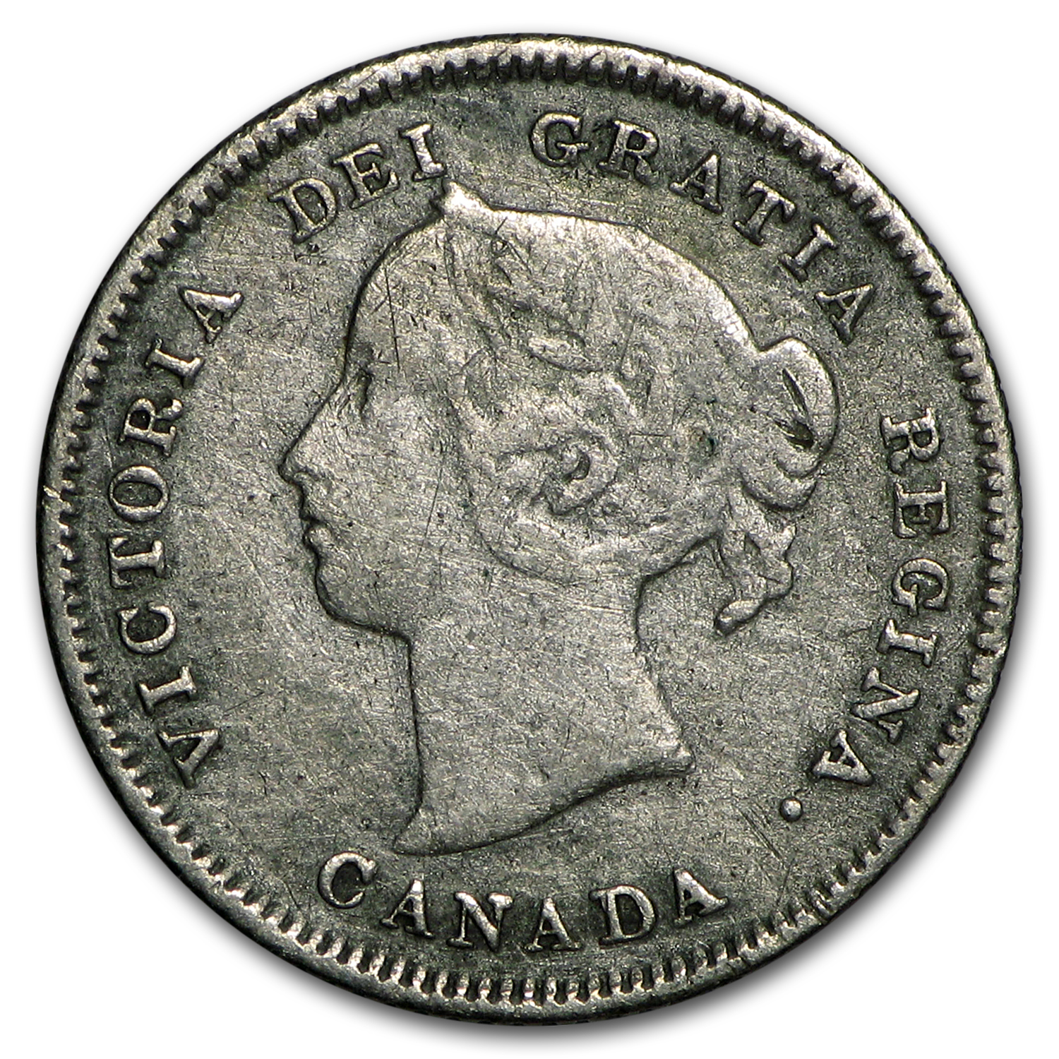 1883-H Canada 5 Cents Silver VF