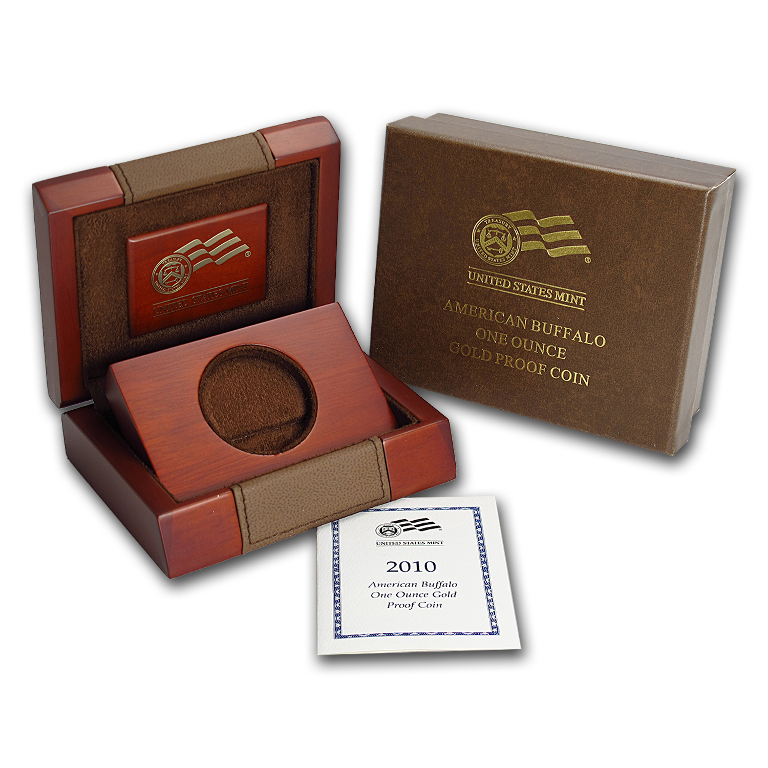 OEM Box & COA - 2010-W Proof 1 oz Gold Buffalo