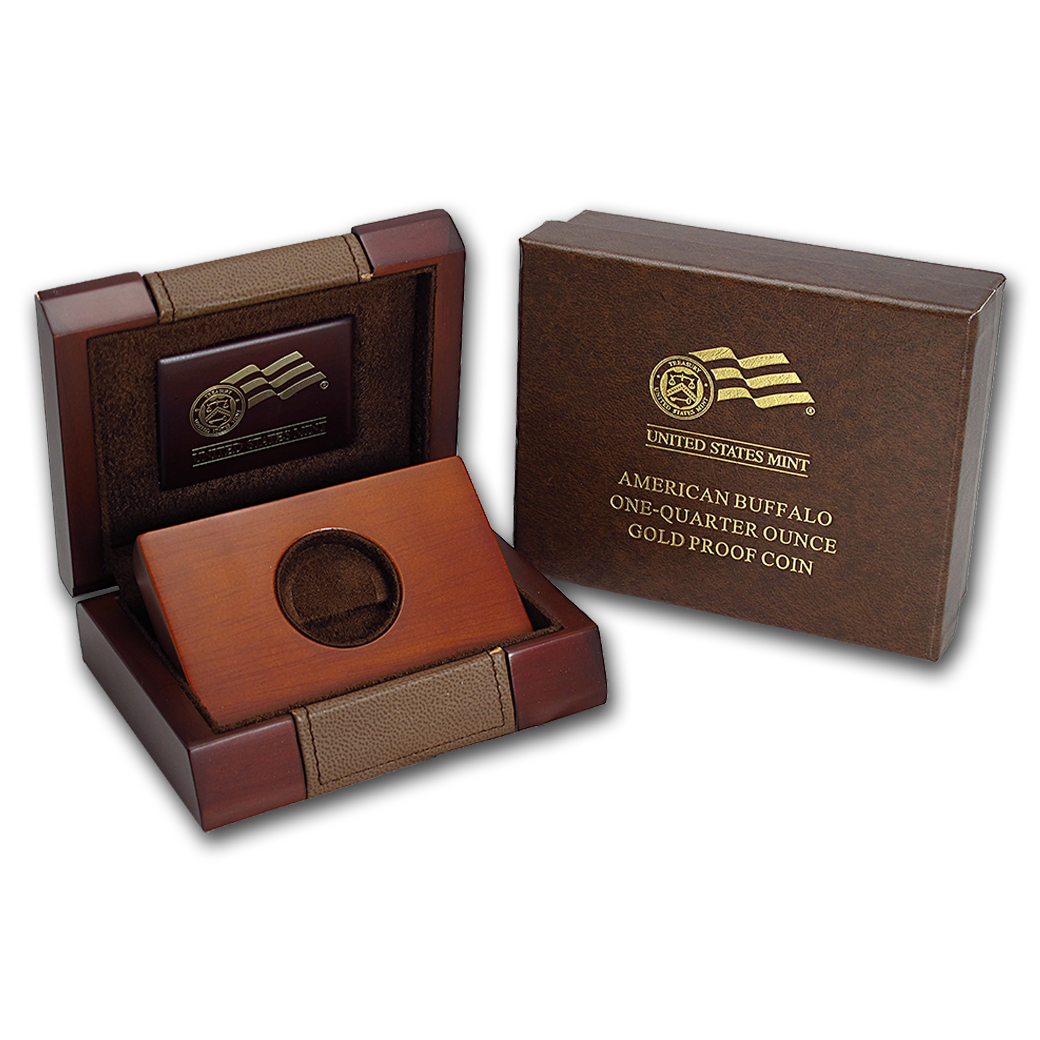 OGP Box & COA - 2008-W Proof 1/4 oz Gold Buffalo