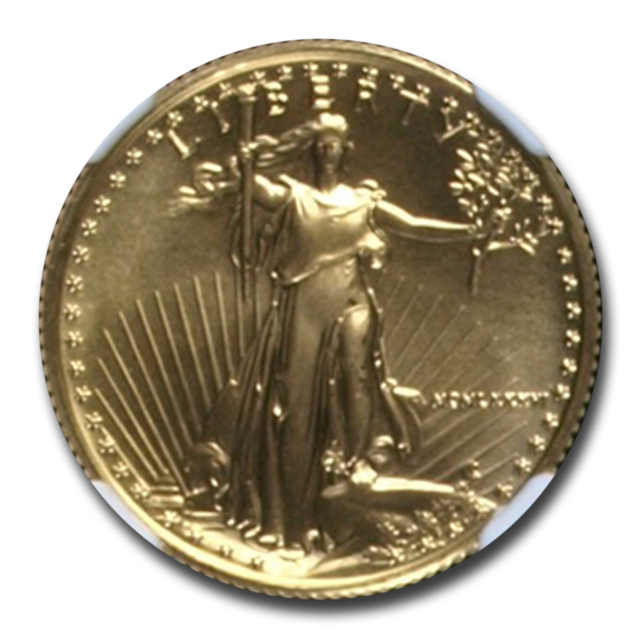 1986 1/4 oz Gold American Eagle MS-69 NGC (First Year of Issue)