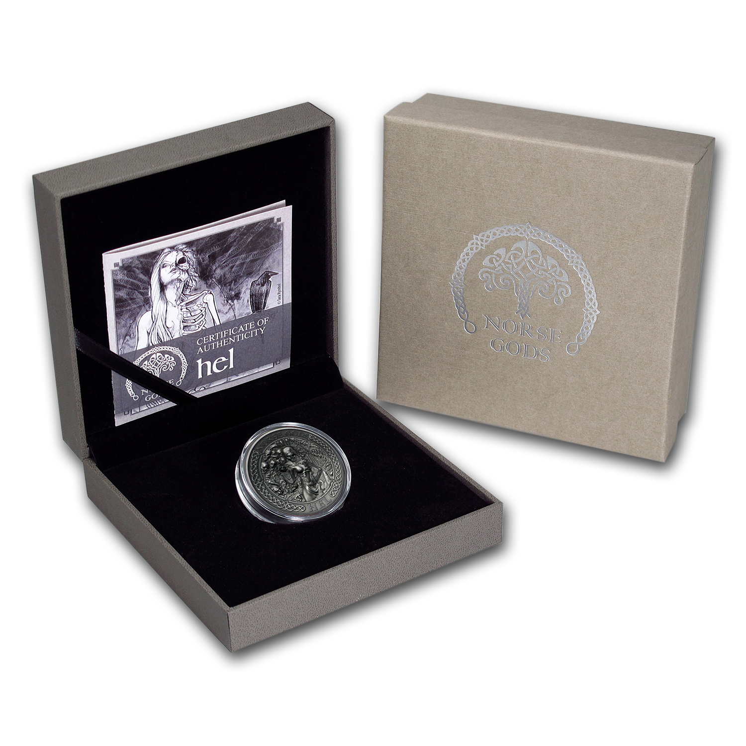 2015 Cook Islands 2 oz Silver High Relief Norse Gods: Hel
