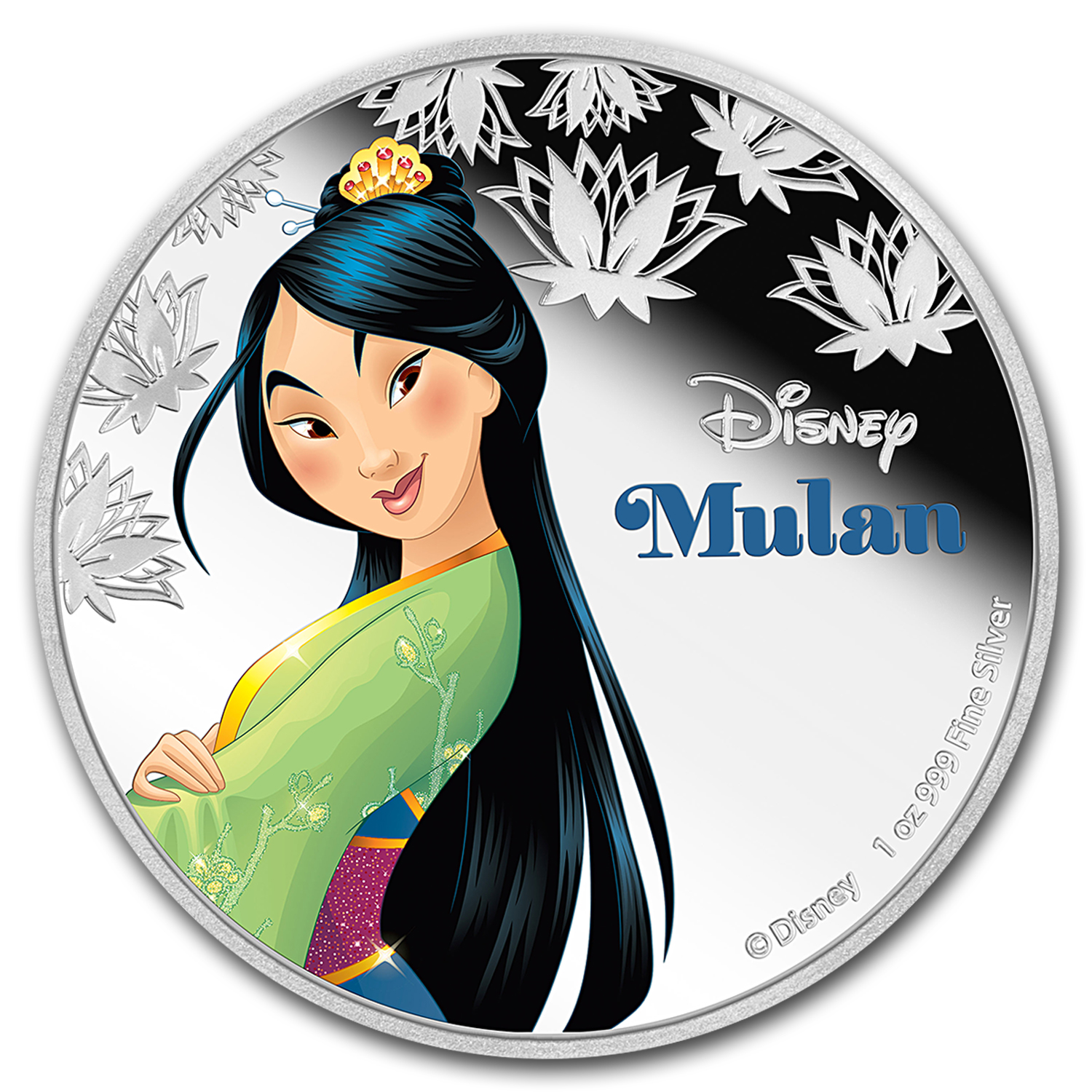 2016 Niue 1 oz Silver $2 Disney Princess Mulan
