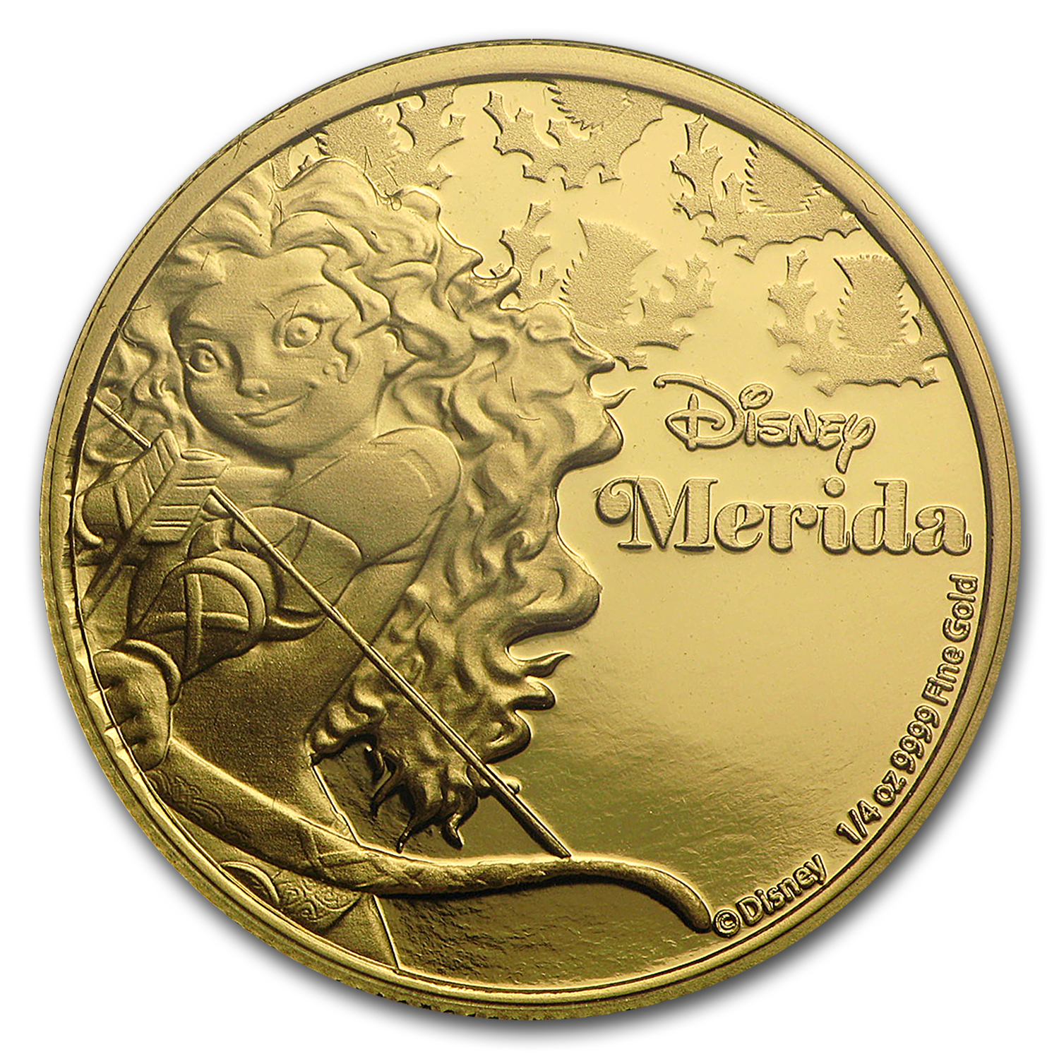 2016 Niue 1/4 oz Proof Gold $25 Disney Princess Merida