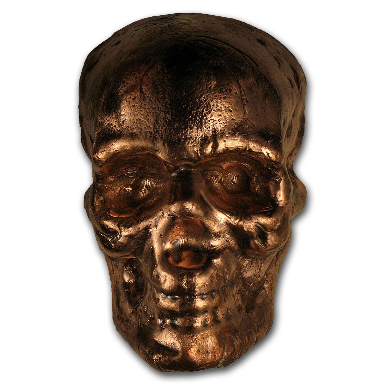 1 kilo Copper Skull Bar - MK Barz & Bullion (Poured)