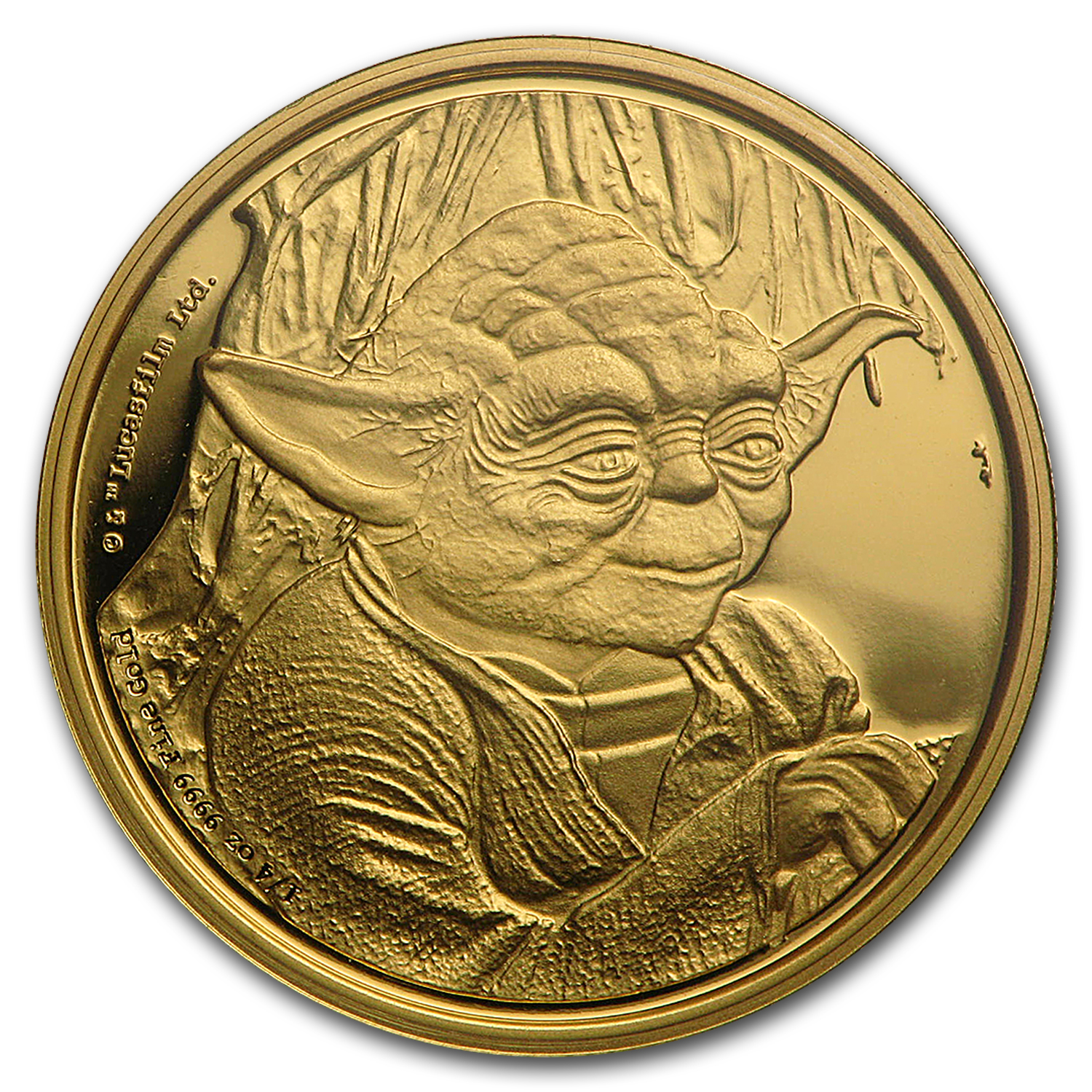 2016 Niue 1/4 oz Gold $25 Star Wars Yoda Proof (Box & COA)