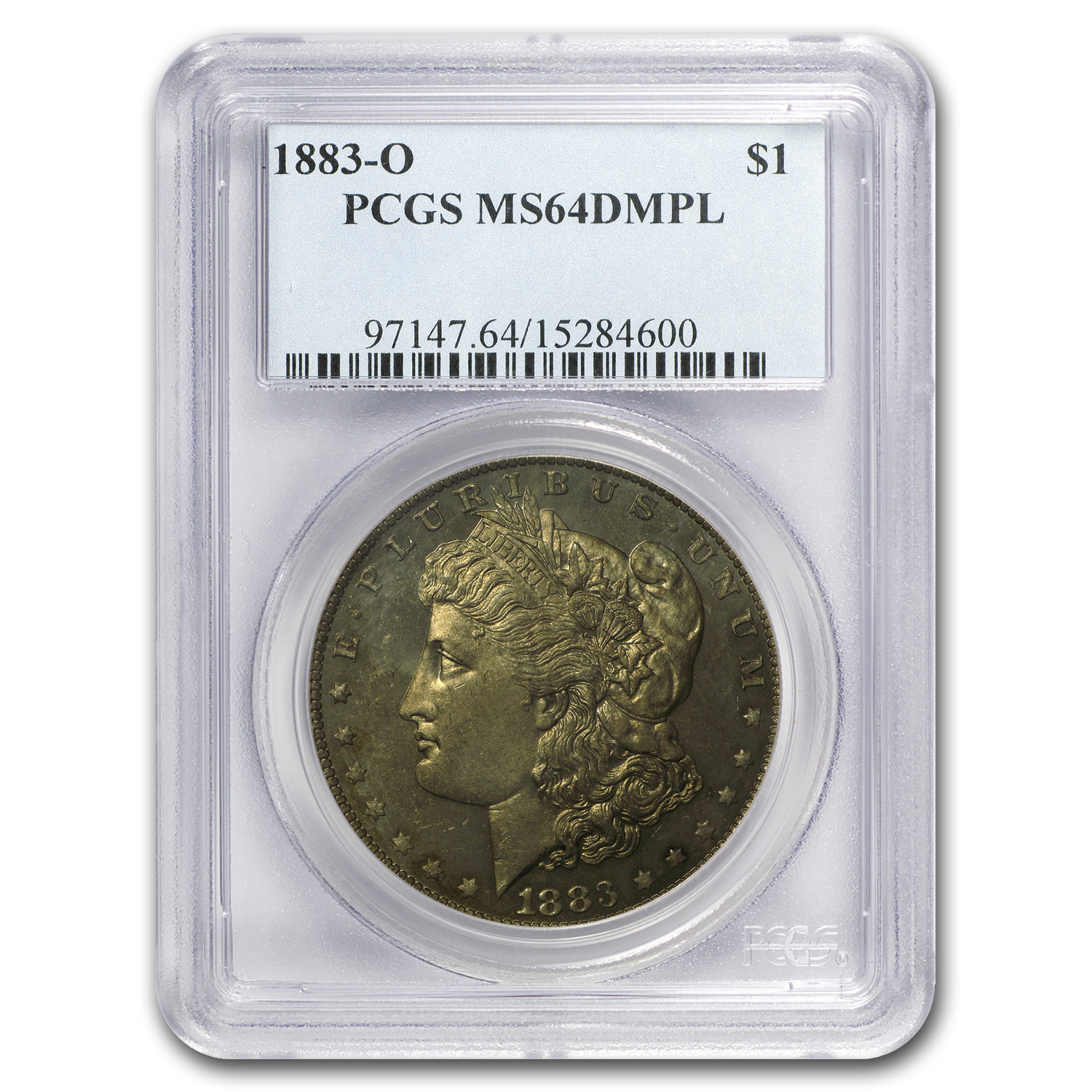1883-O Morgan Dollar MS-64 DMPL PCGS (Toned)
