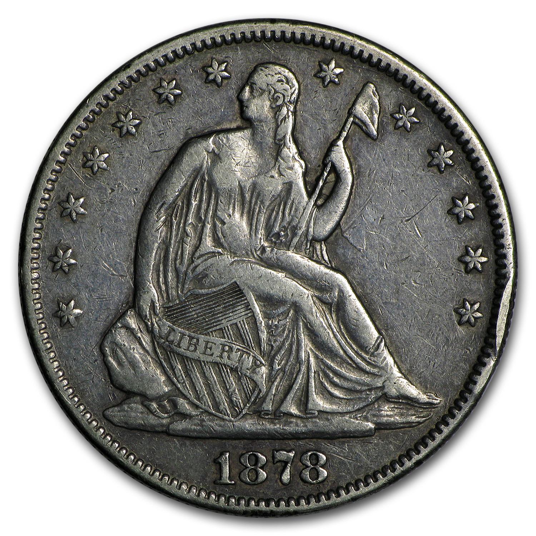 1878 Liberty Seated Half Dollar Xf Liberty Seated Half