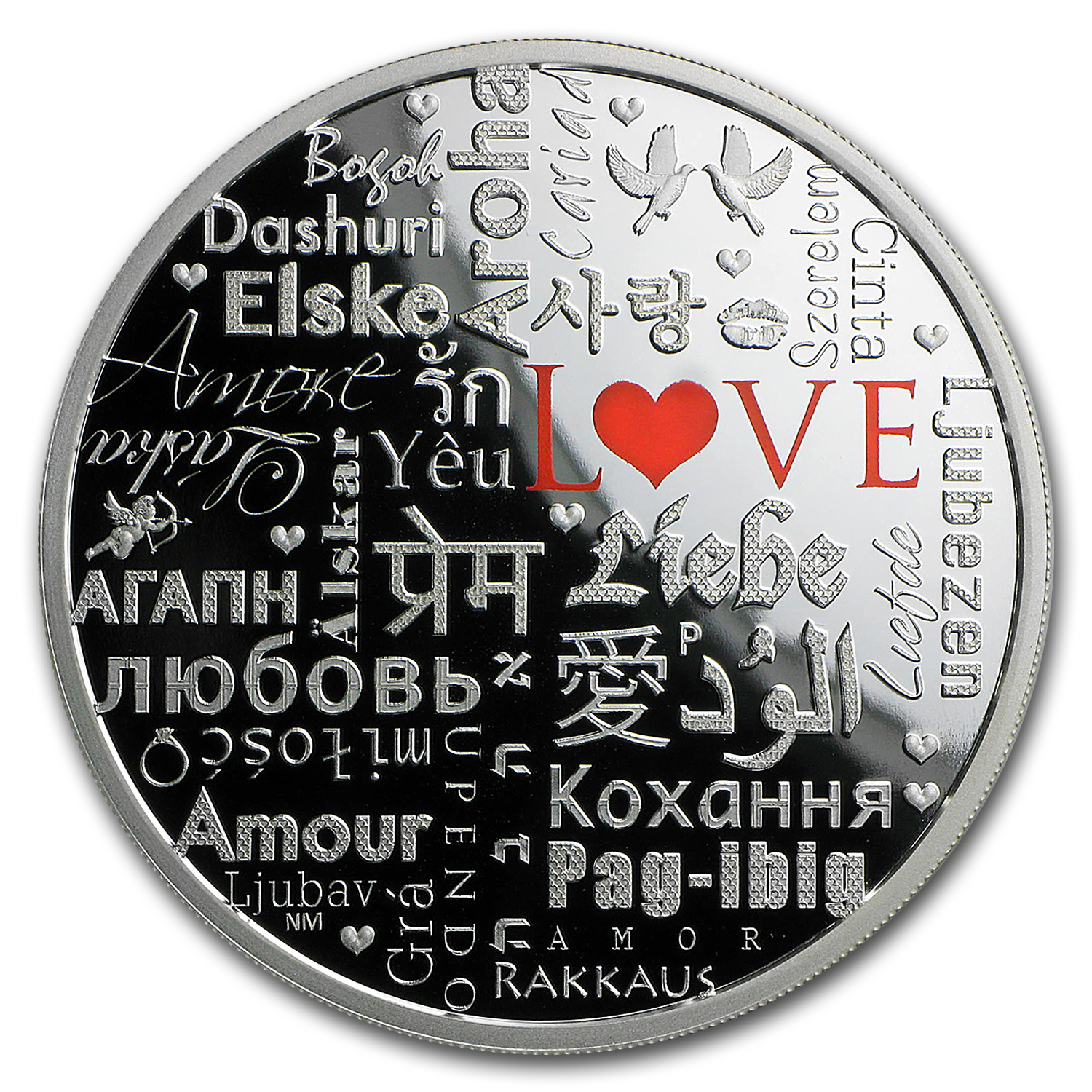 2016 Australia 2 oz Silver Proof Language of Love