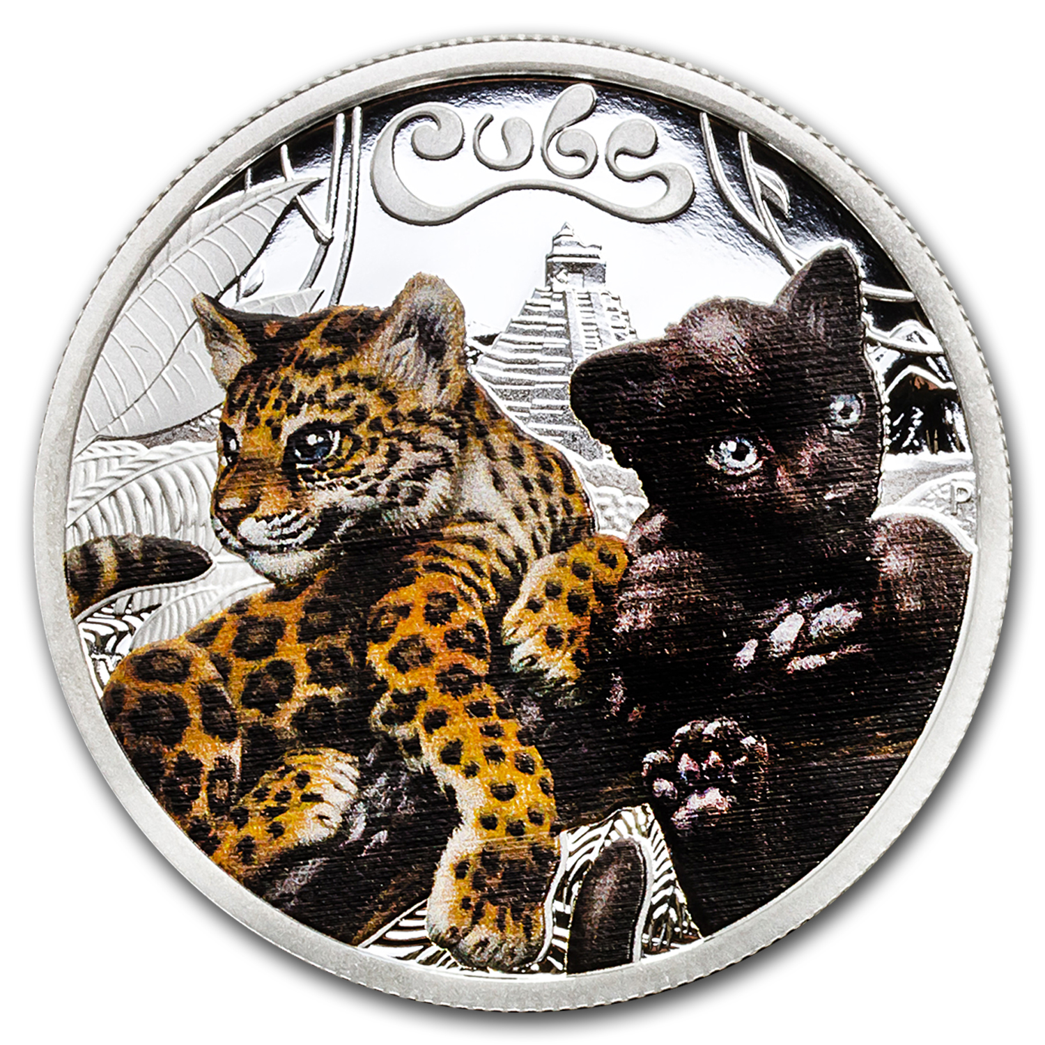 2016 Tuvalu 1/2 oz Silver Proof Jaguar Cubs