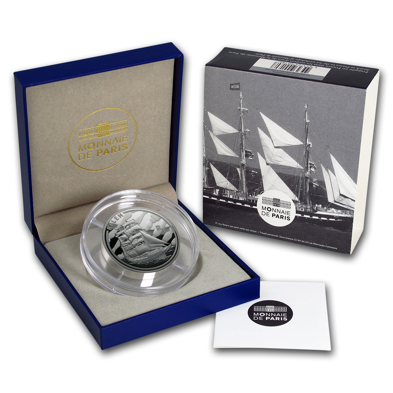 2016 5 oz Silver €50 Great French Ships Proof (The Belem)