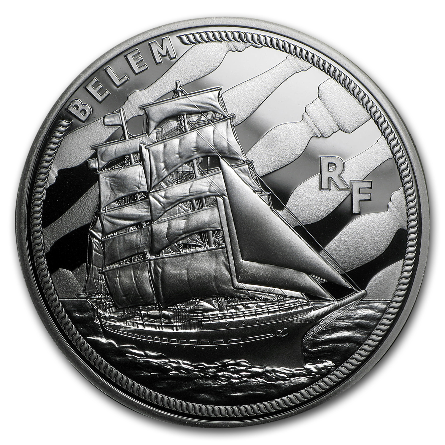 2016 Silver €10 Great French Ships Proof (The Belem)
