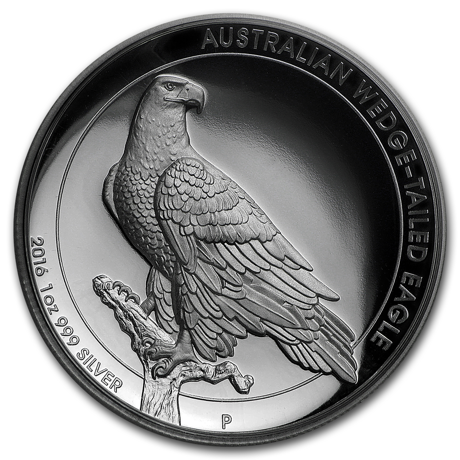2016 Australia 1 oz Silver Wedge-Tailed Eagle Proof (High Relief)