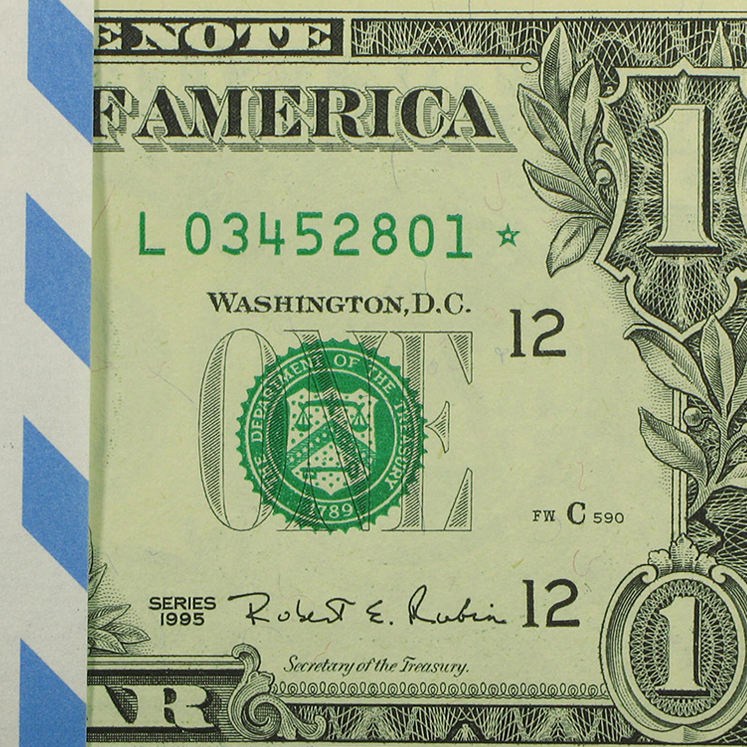 1995* (L-San Francisco) $1.00 FRN CU (Consecutive 100 Star Notes)