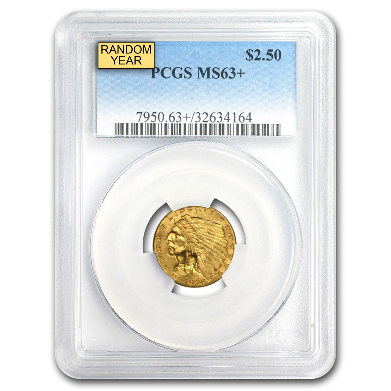 $2.50 Indian Gold Quarter Eagle MS-63+ NGC/PCGS