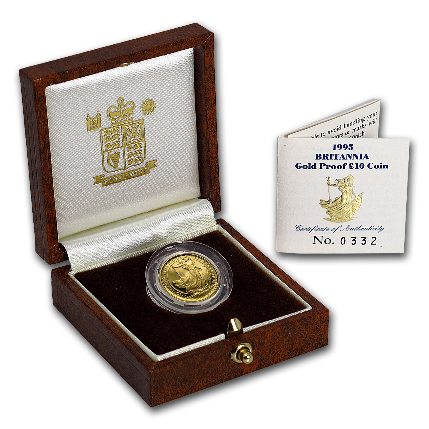 1995 Great Britain 1/10 oz Proof Gold Britannia (w/Box & COA)