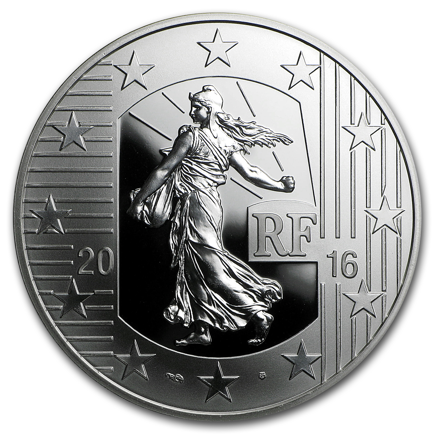 2016 Silver €10 The Sower Series Proof (The Teston)