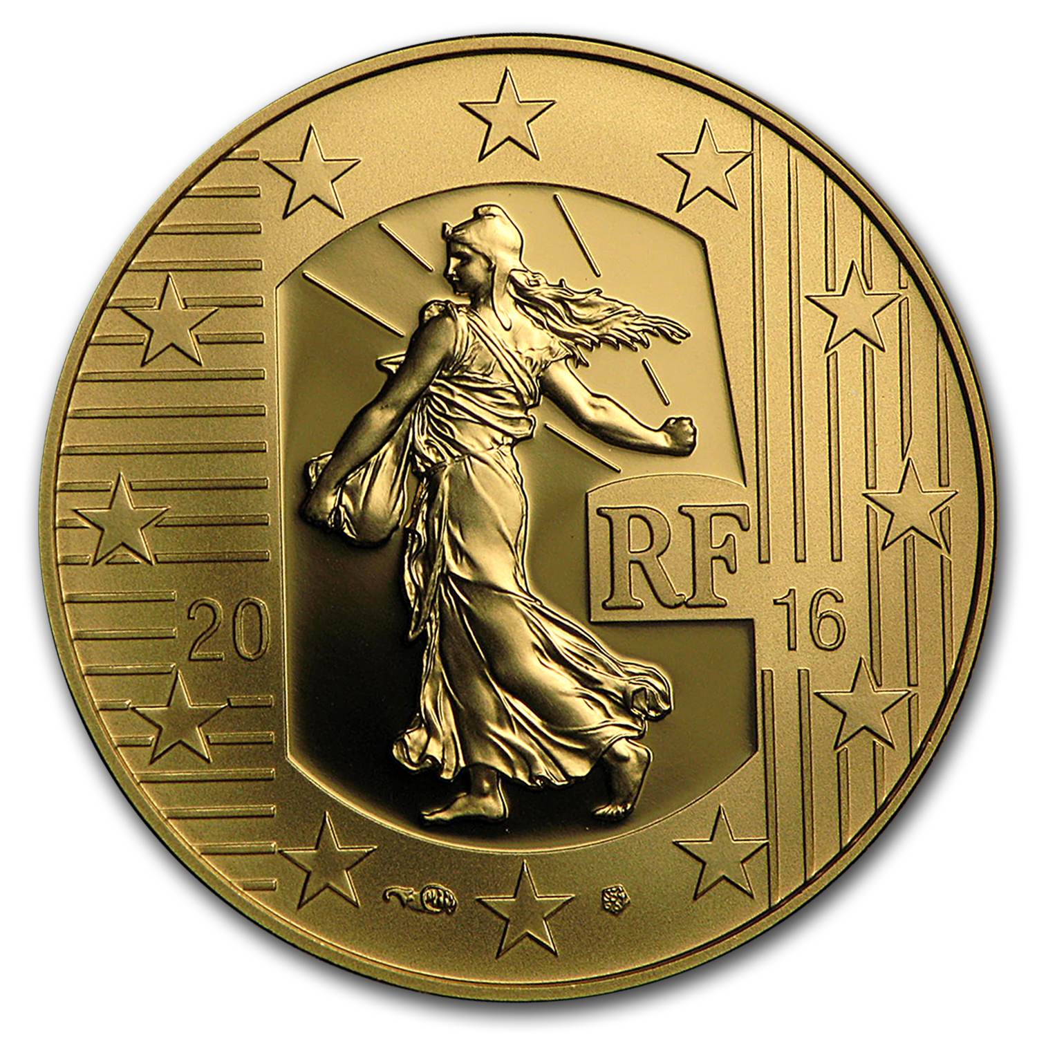 2016 1/4 oz Proof Gold €50 Sower (The Teston)