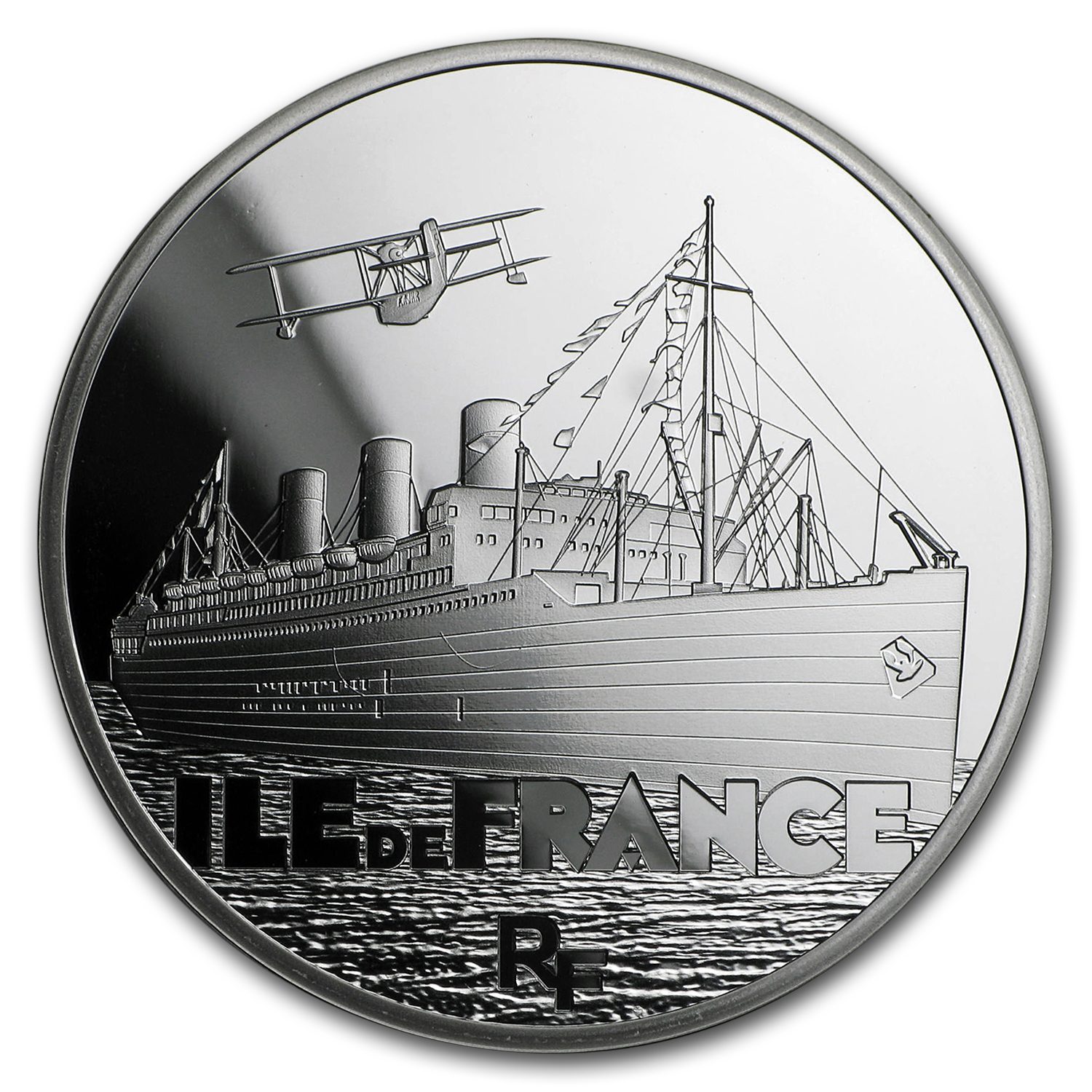 2016 Silver €10 Great French Ships Proof (The Ile de France)